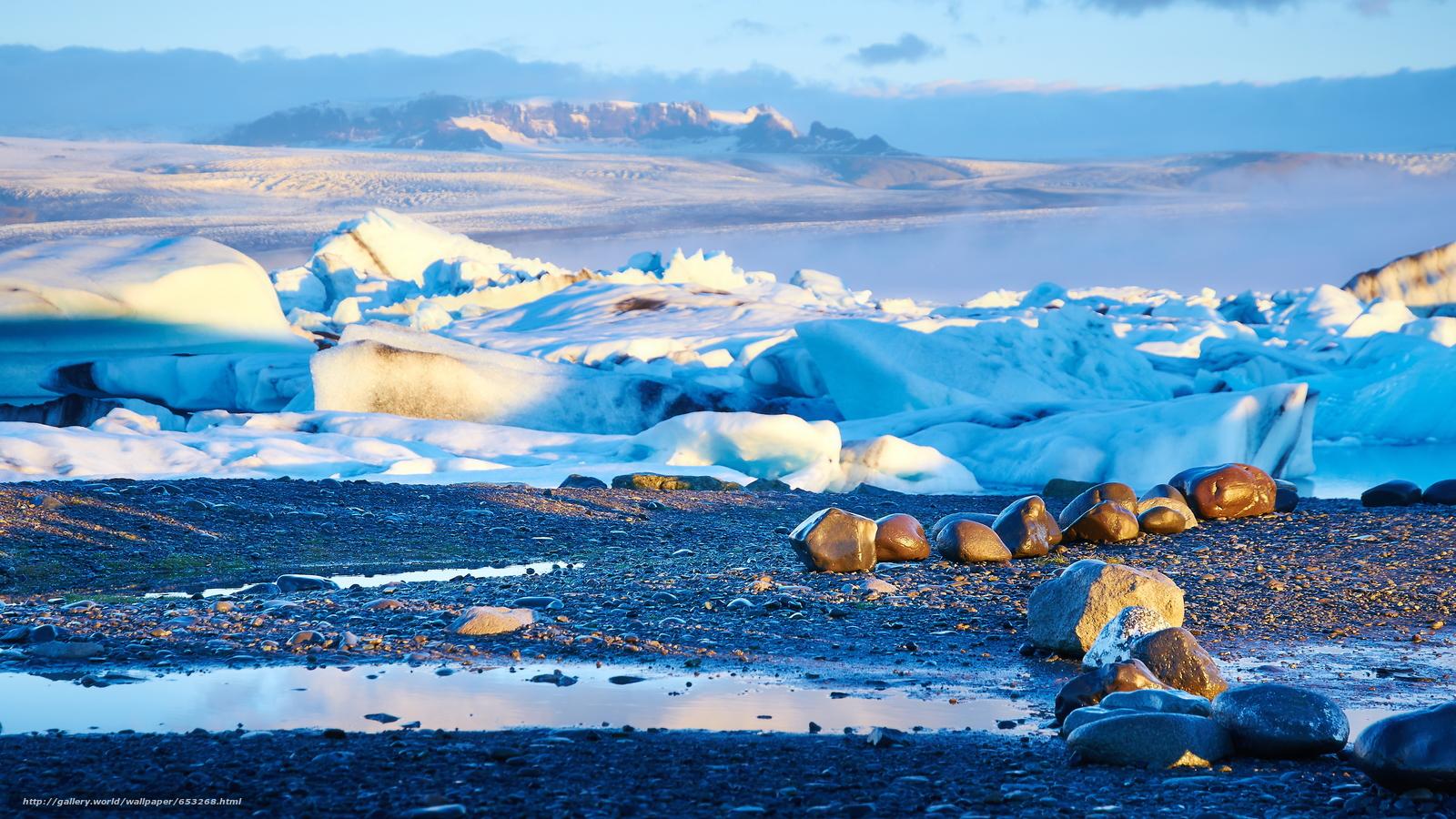 壁紙をダウンロード アイスランド,  アイス,  氷,  氷河 デスクトップの解像度のための無料壁紙 3840x2160 — 絵 №653268