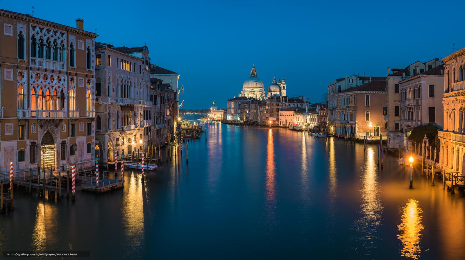 Скачать обои Grand Canal,  Venice,  венеция,  италия бесплатно для рабочего стола в разрешении 2048x1148 — картинка №653382