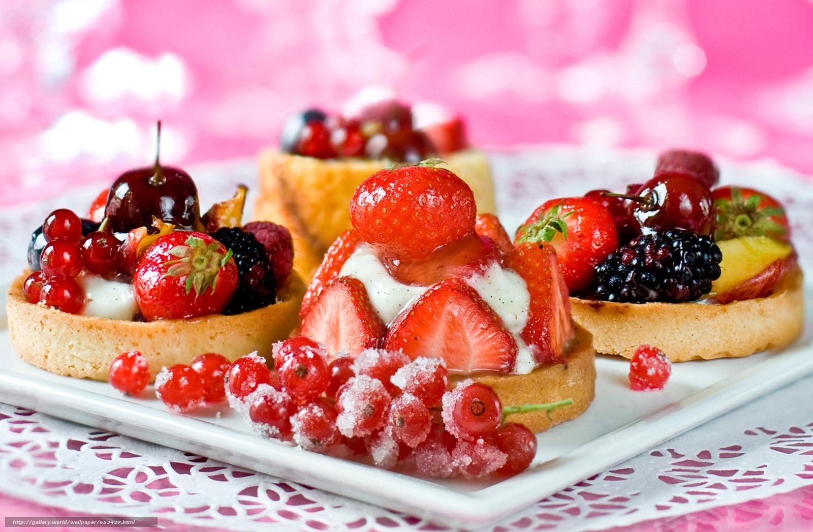 Download wallpaper BERRY,  dessert,  food,  sweets free desktop wallpaper in the resolution 2140x1400 — picture №653427