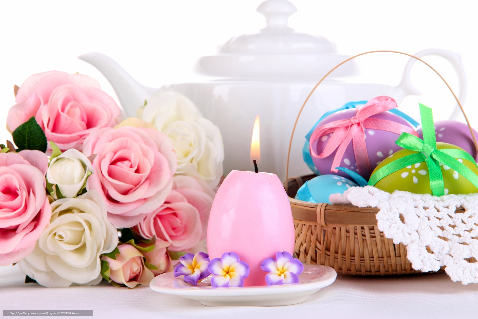 Download wallpaper Easter,  eggs,  Krashenki,  candle free desktop wallpaper in the resolution 5184x3456 — picture №653576