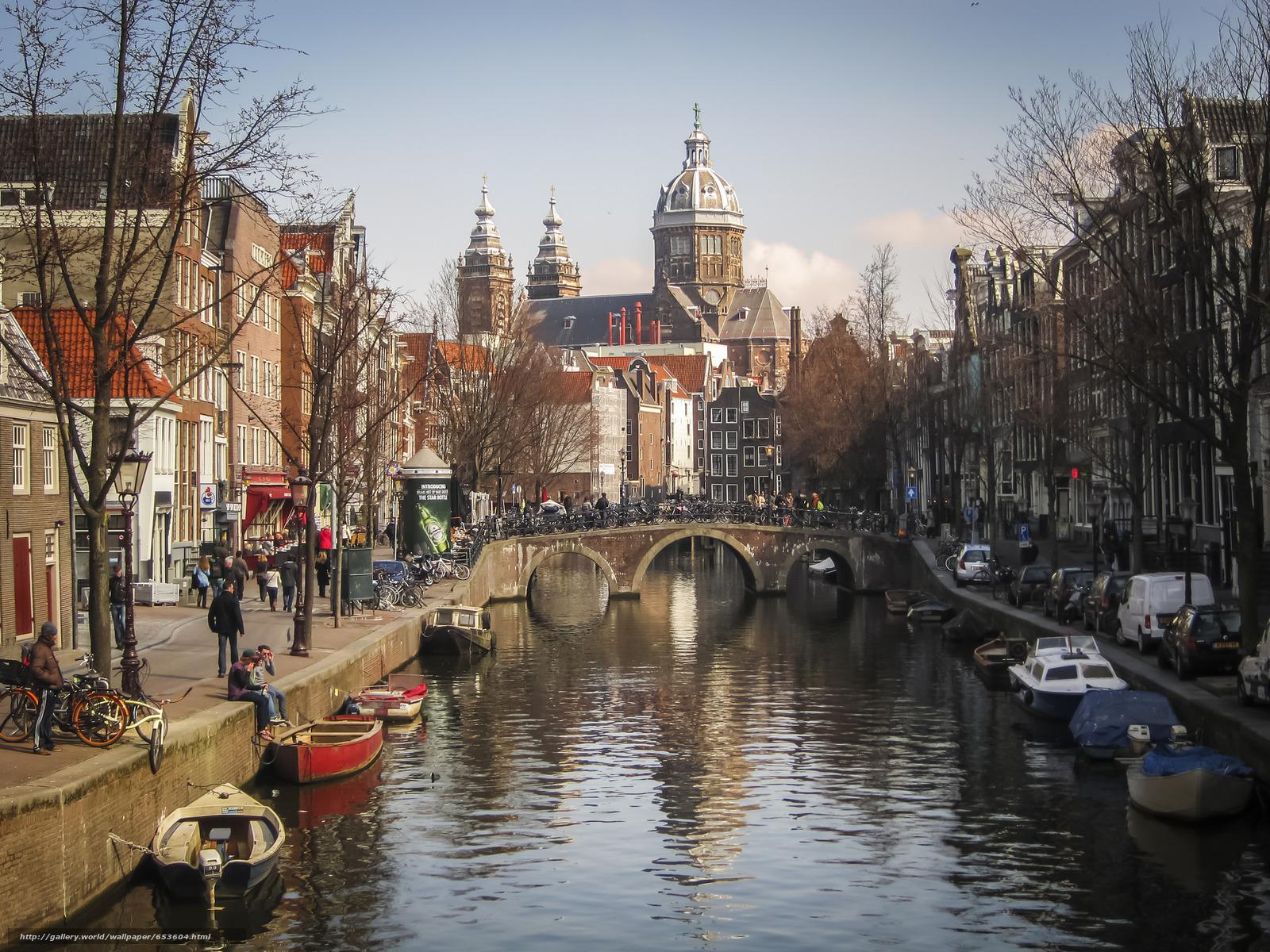Скачать обои Amsterdam,  Амстердам,  столица и крупнейший город Нидерландов,  Нидерланды бесплатно для рабочего стола в разрешении 2048x1536 — картинка №653604