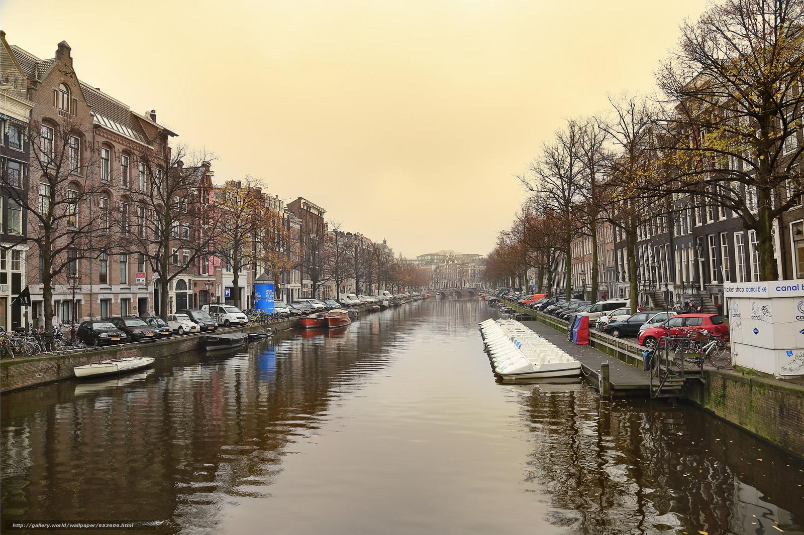 Скачать обои Amsterdam,  Амстердам,  столица и крупнейший город Нидерландов,  Нидерланды бесплатно для рабочего стола в разрешении 2048x1365 — картинка №653606