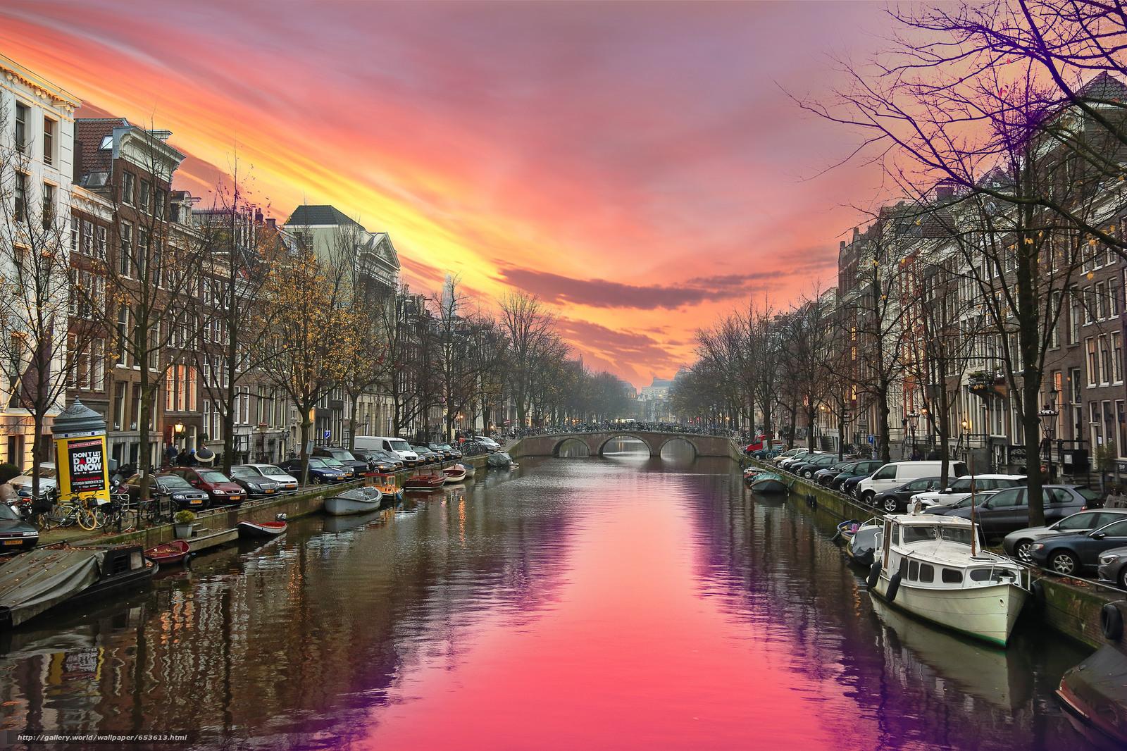 scaricare gli sfondi Amsterdam,  Amsterdam,  capitale e più grande città dei Paesi Bassi,  Paesi Bassi Sfondi gratis per la risoluzione del desktop 2048x1365 — immagine №653613