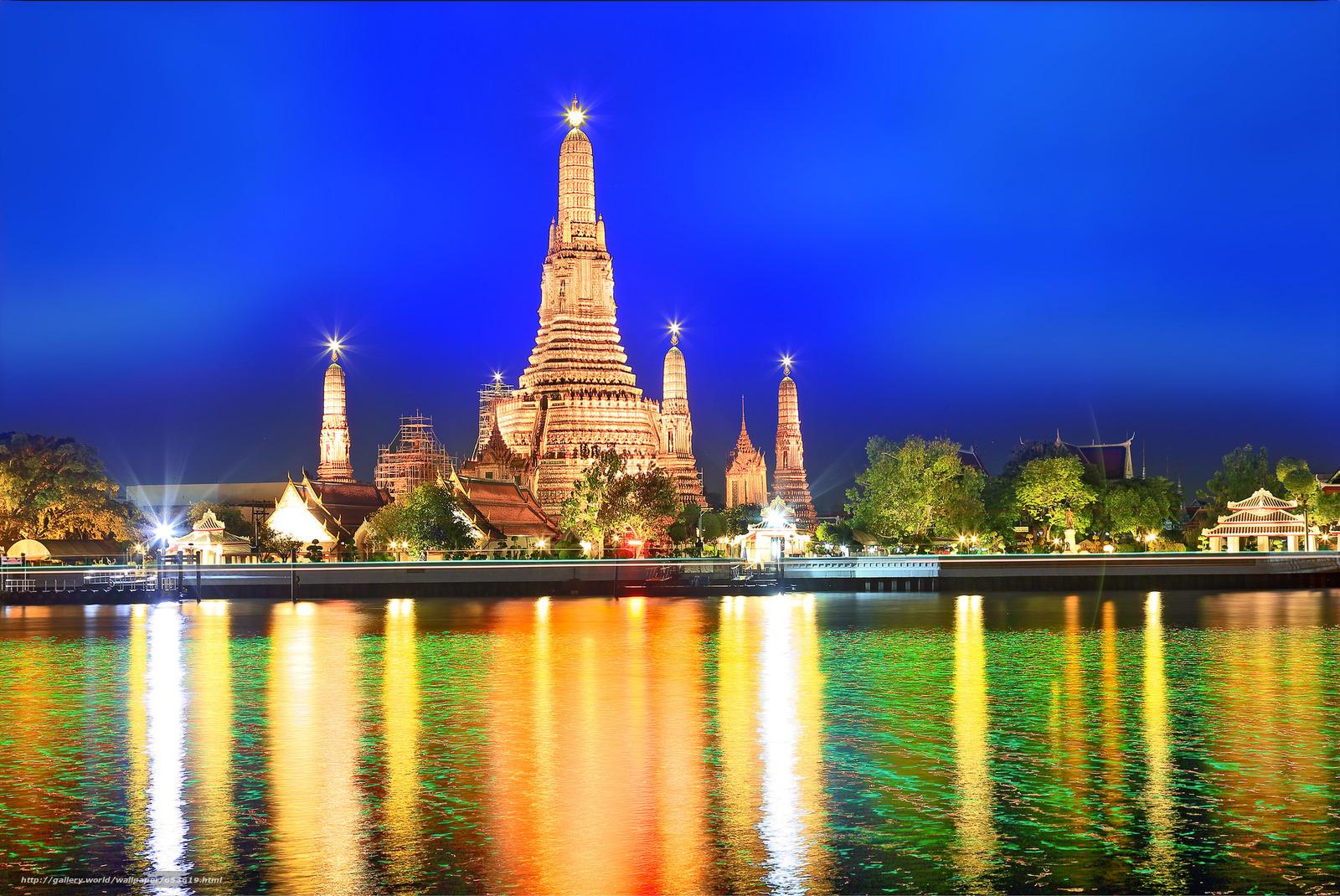 Скачать обои Бангкок,  столица и самый крупный город Таиланда,  Таиланд бесплатно для рабочего стола в разрешении 2048x1369 — картинка №653619
