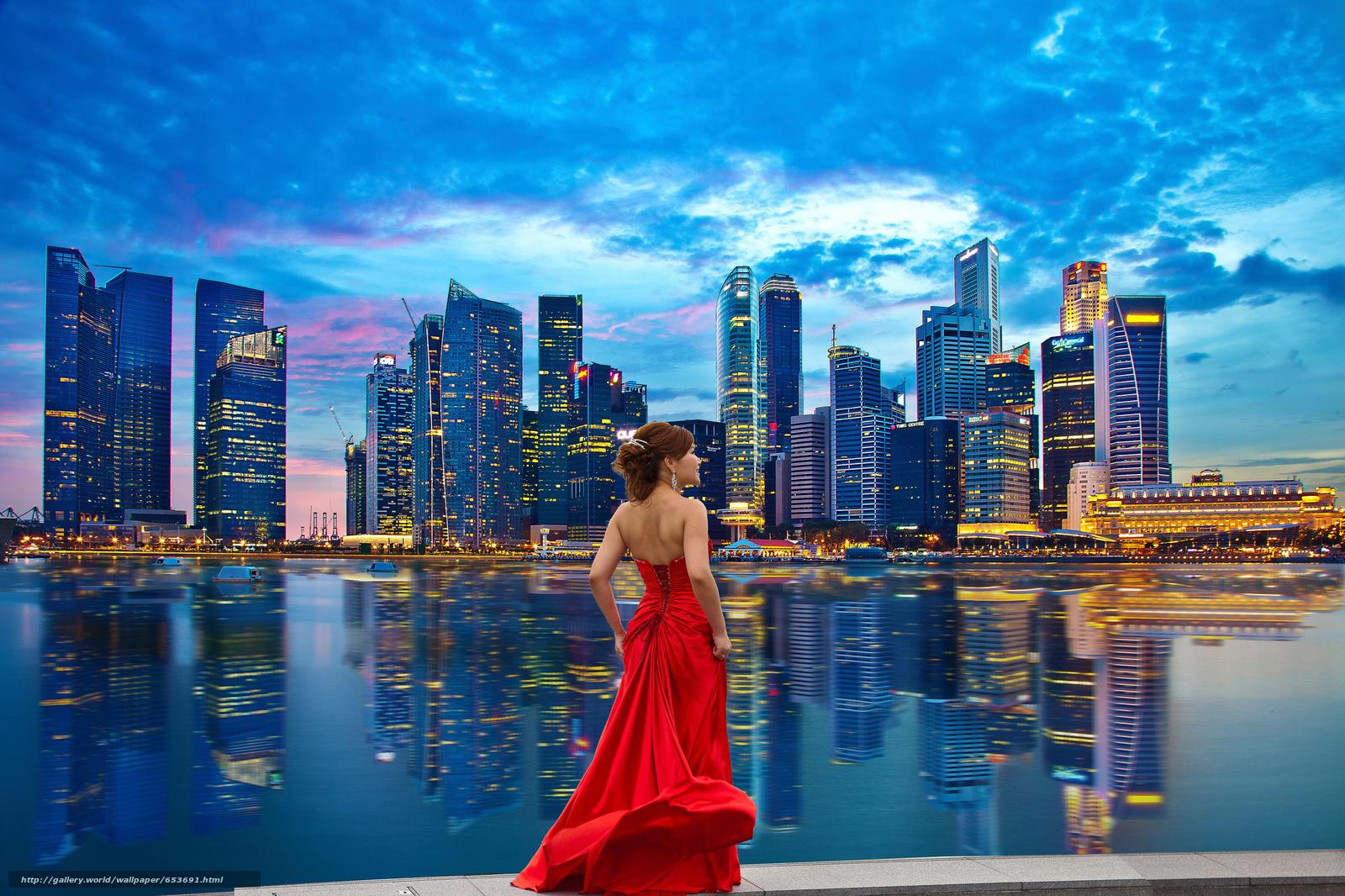 Скачать обои Сингапур,  Singapore,  город бесплатно для рабочего стола в разрешении 2048x1365 — картинка №653691