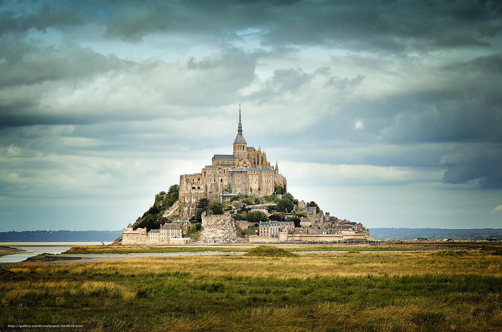 Tlcharger Fond d'ecran Mont Saint-Michel,  Mont Saint-Michel,  France Fonds d'ecran gratuits pour votre rsolution du bureau 2048x1356 — image №653810