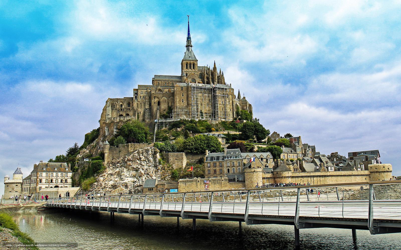 Download wallpaper Mont Saint-Michel,  Mont Saint-Michel,  France free desktop wallpaper in the resolution 2048x1277 — picture №653812