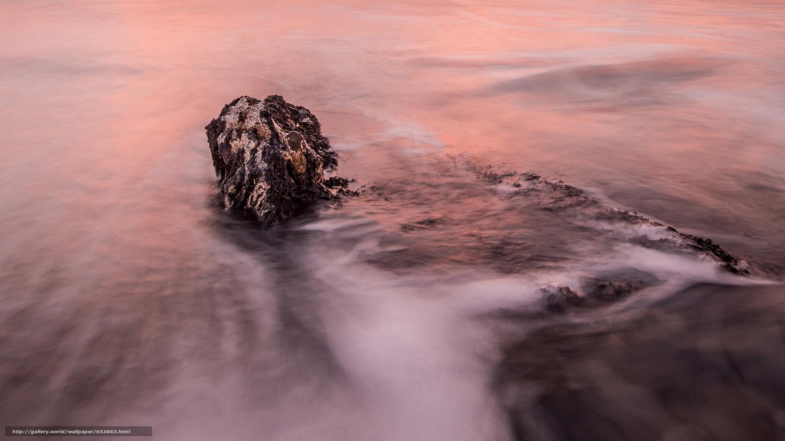 scaricare gli sfondi mare,  oceano,  pond,  pietre Sfondi gratis per la risoluzione del desktop 2048x1152 — immagine №653863