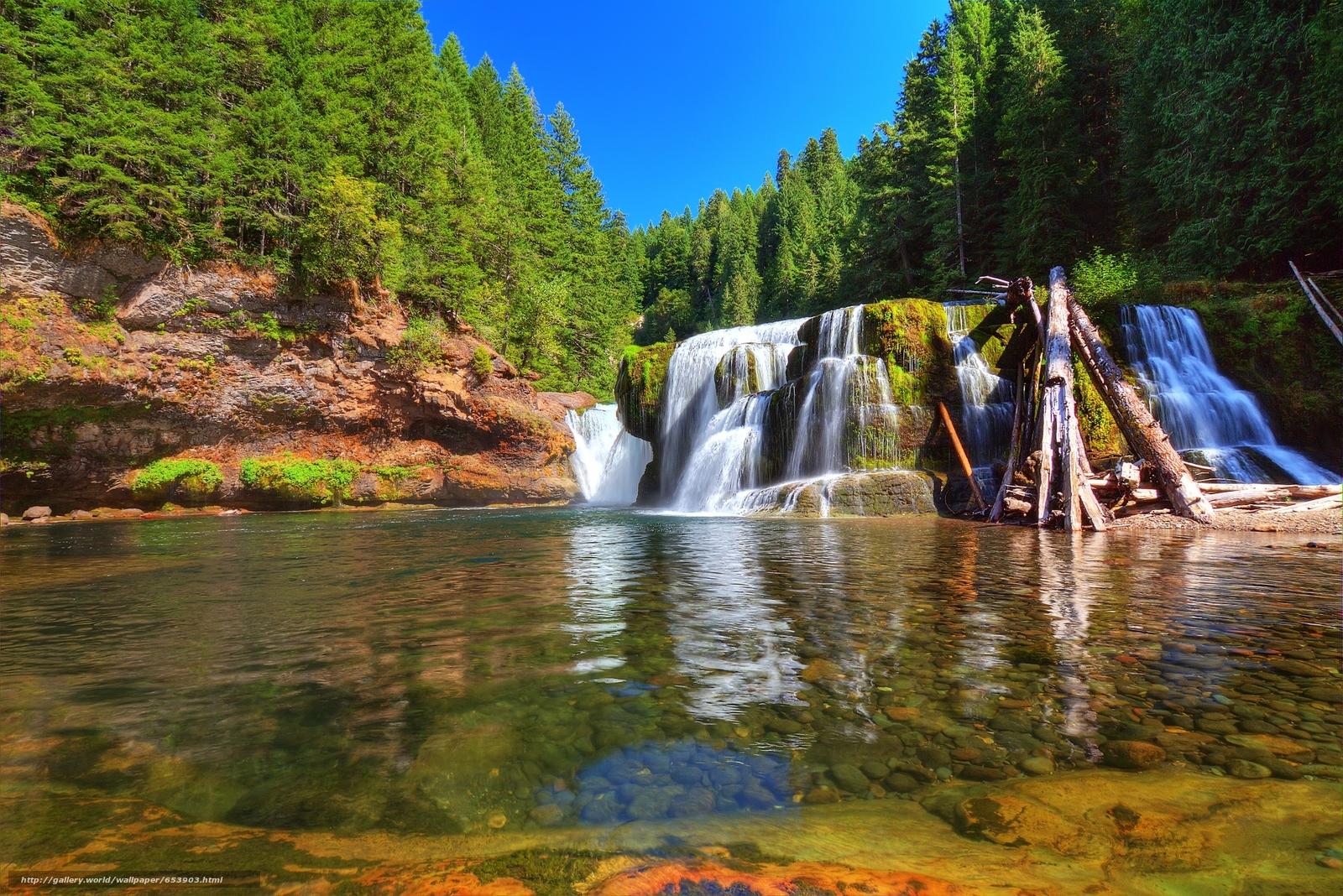 Descargar gratis Bajo Lewis River Falls,  Lewis River,  Washington,  río Fondos de escritorio en la resolucin 2048x1367 — imagen №653903