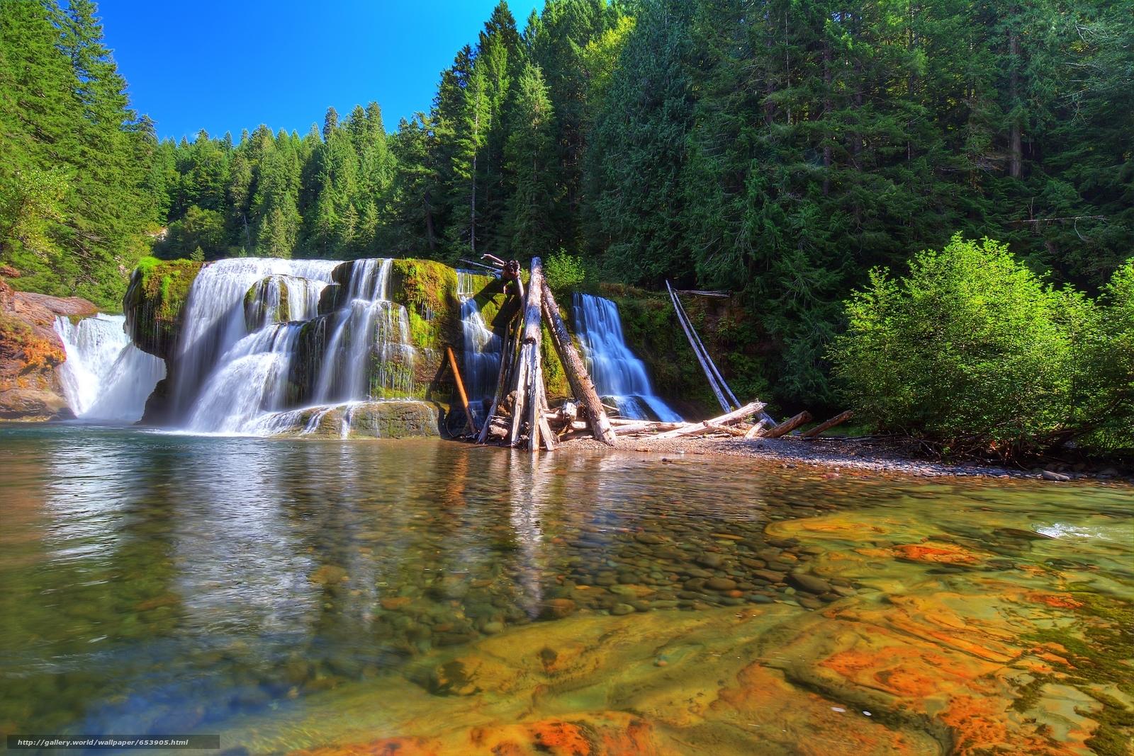 Descargar gratis Bajo Lewis River Falls,  Lewis River,  Washington,  río Fondos de escritorio en la resolucin 2048x1367 — imagen №653905