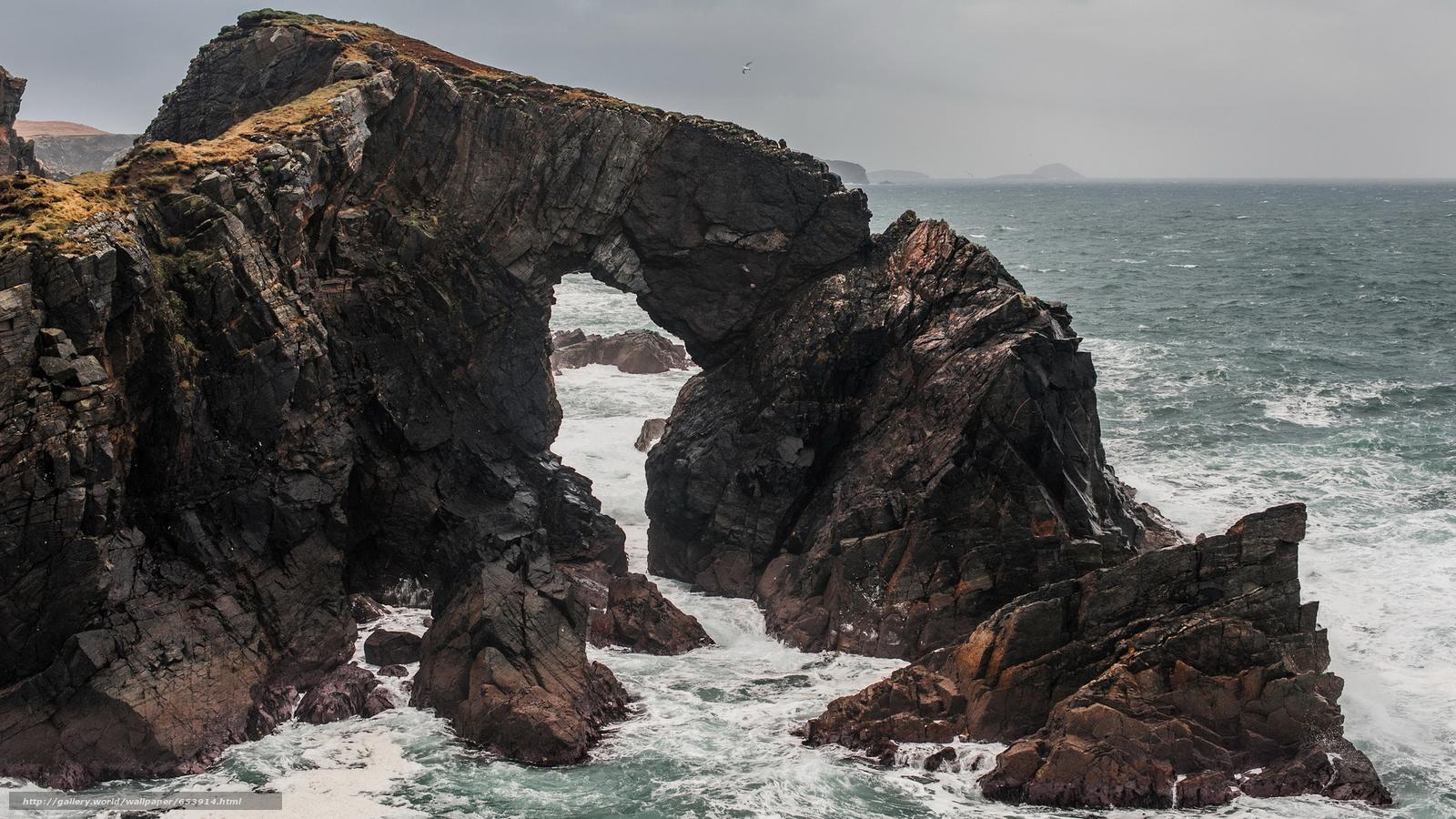 Скачать обои море,  океан,  водоем,  камни бесплатно для рабочего стола в разрешении 2048x1152 — картинка №653914