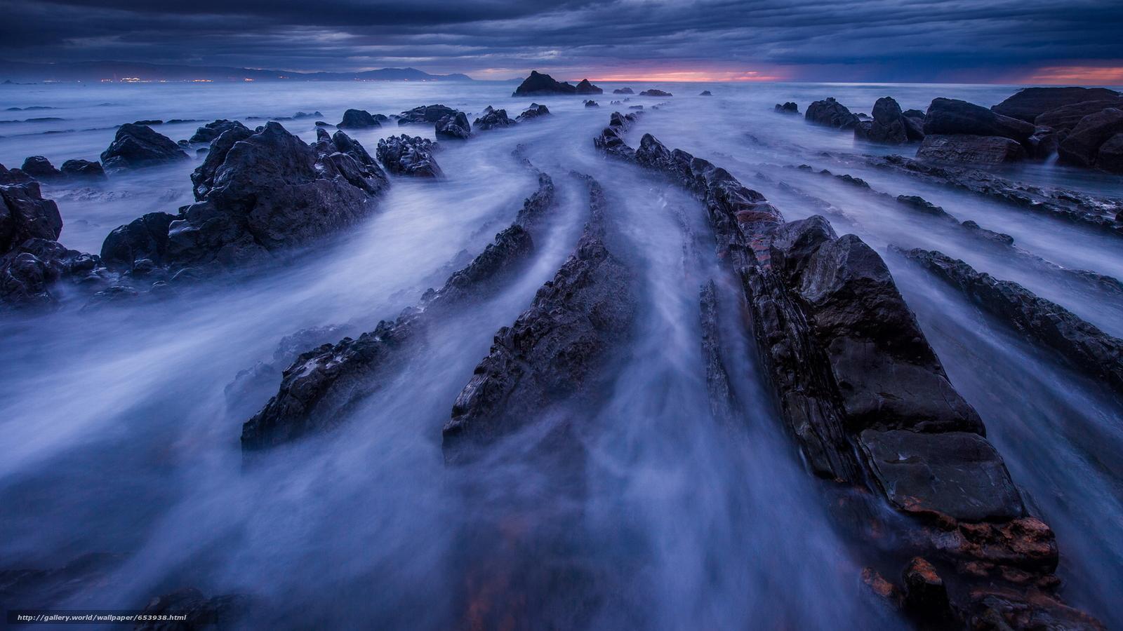 Скачать обои море,  океан,  водоем,  камни бесплатно для рабочего стола в разрешении 2048x1152 — картинка №653938