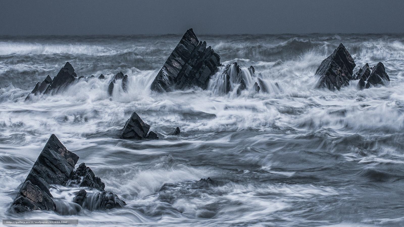 Скачать обои море,  океан,  водоем,  камни бесплатно для рабочего стола в разрешении 2048x1152 — картинка №653939