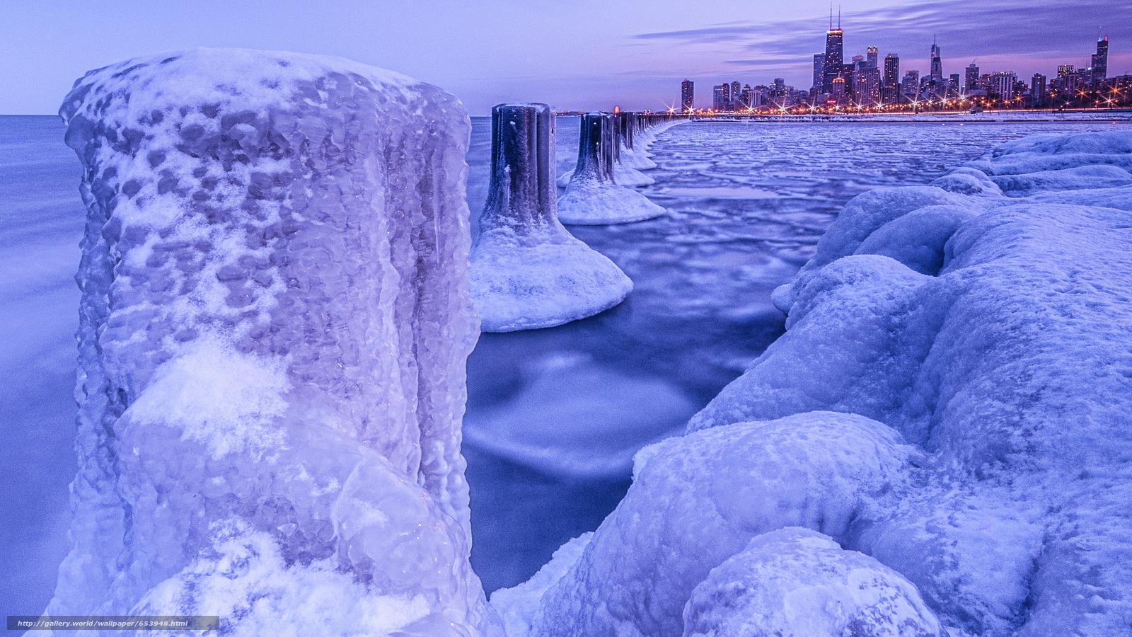 Скачать обои море,  водоем,  ледник,  лед бесплатно для рабочего стола в разрешении 2048x1152 — картинка №653948