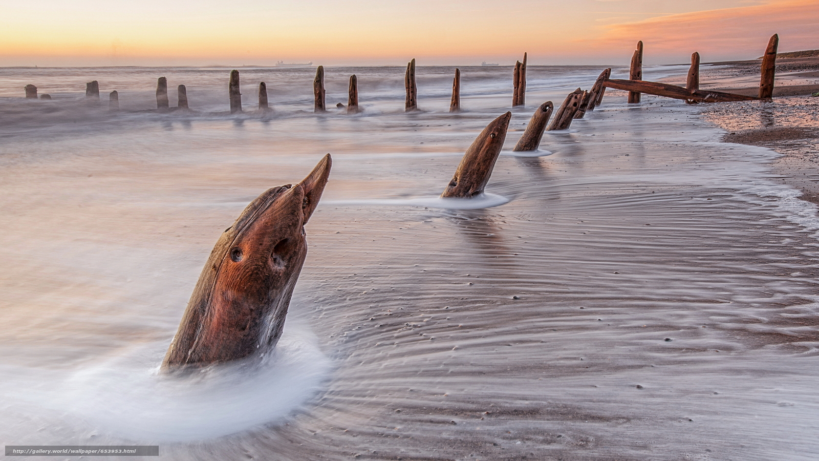 Скачать обои море,  океан,  водоем,  вечер бесплатно для рабочего стола в разрешении 2048x1152 — картинка №653953