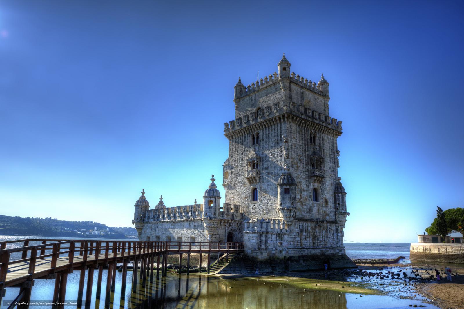 Скачать обои Белен Башня,  Санта-Мария-де-Белен,  Лиссабон,  Португалия бесплатно для рабочего стола в разрешении 2048x1365 — картинка №653967