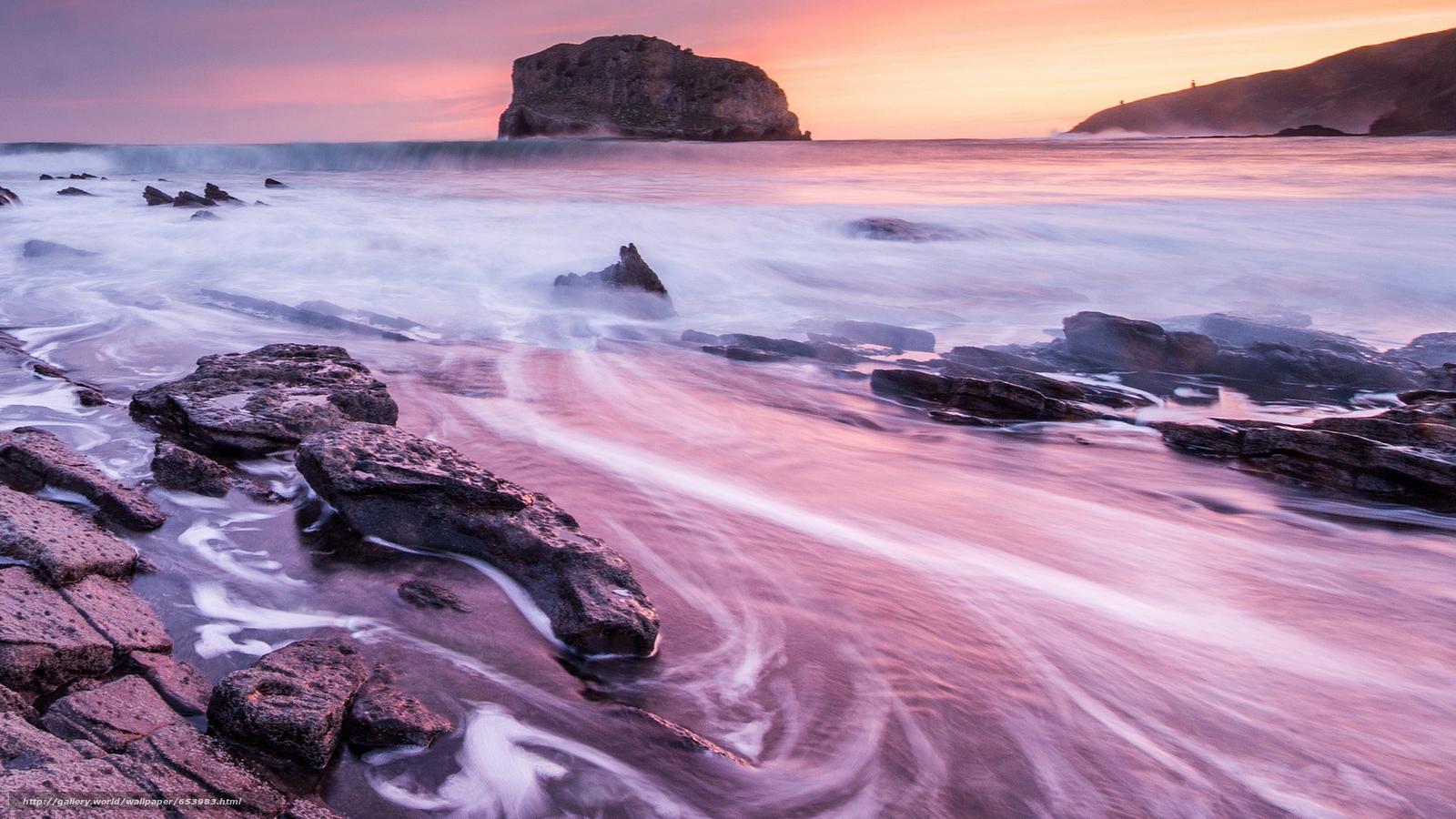Скачать обои море,  океан,  водоем,  камни бесплатно для рабочего стола в разрешении 2048x1152 — картинка №653983