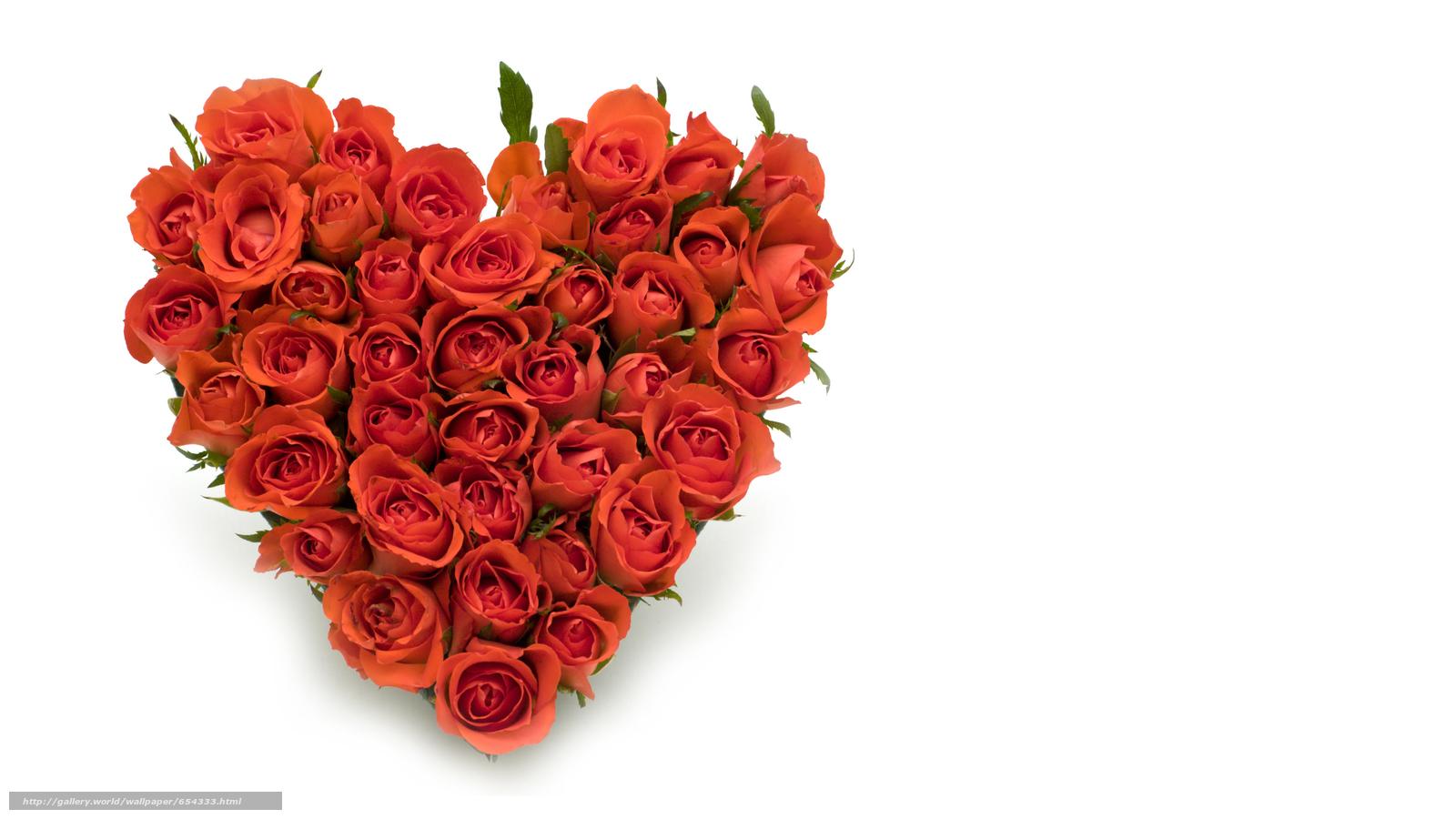 Скачать обои праздник,  день Святого Валентина,  сердце,  розы бесплатно для рабочего стола в разрешении 10675x6005 — картинка №654333