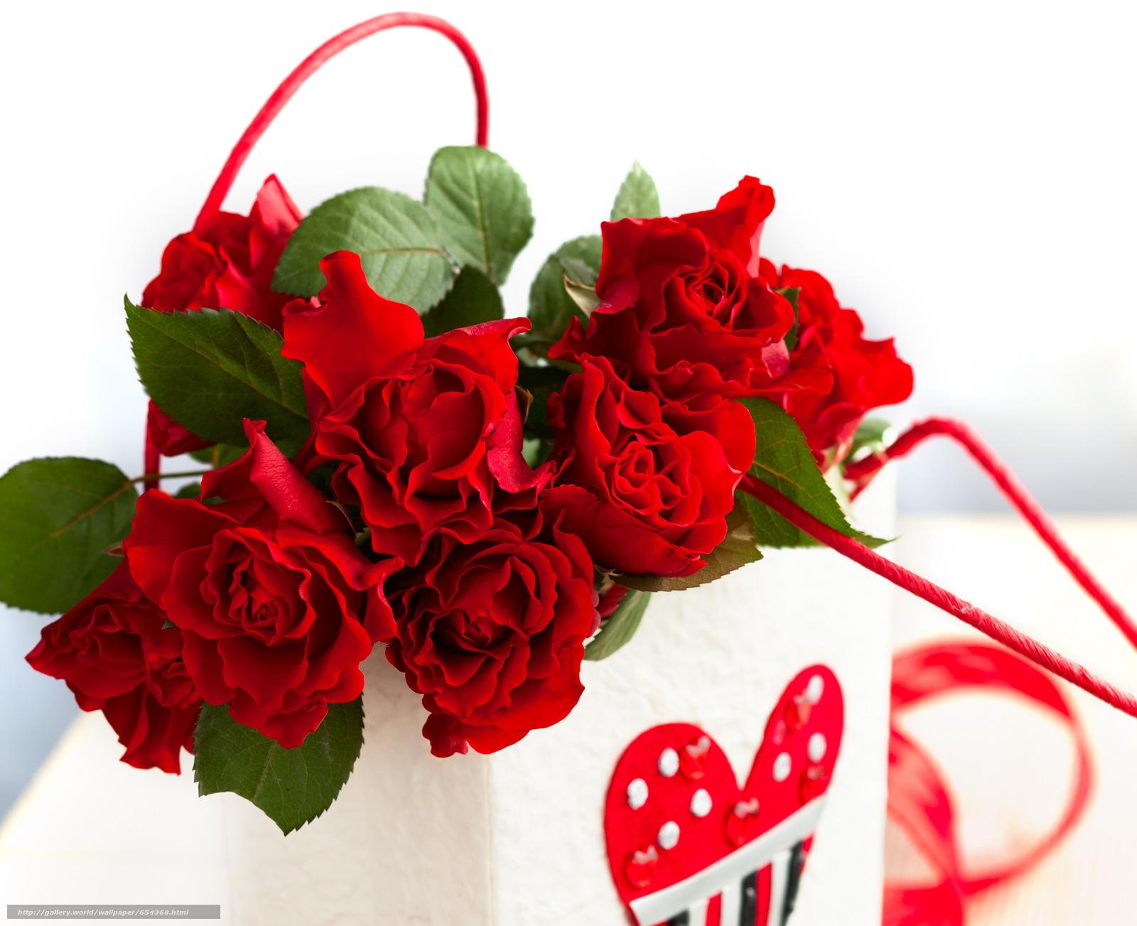 下载壁纸 节日,  情人节,  心脏,  玫瑰 免费为您的桌面分辨率的壁纸 3744x3050 — 图片 №654368