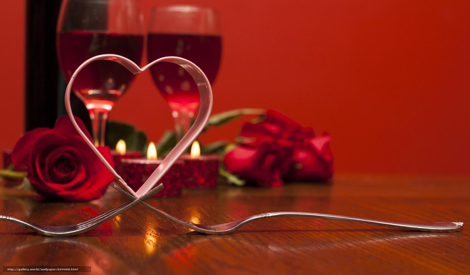 Обои на рабочий стол романтический вечер
