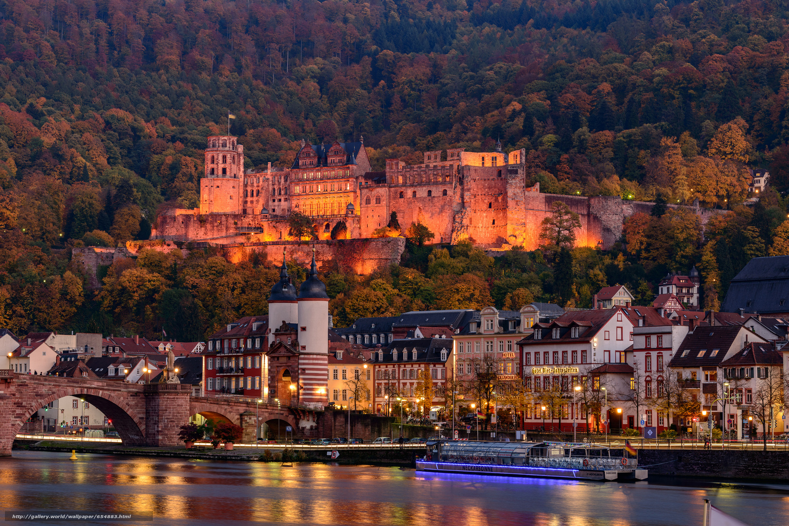 Baixar Wallpaper Heidelberg,  Rio Neckar,  Alemanha,  castelo Papis de parede grtis na resoluo 2048x1367 — quadro №654883