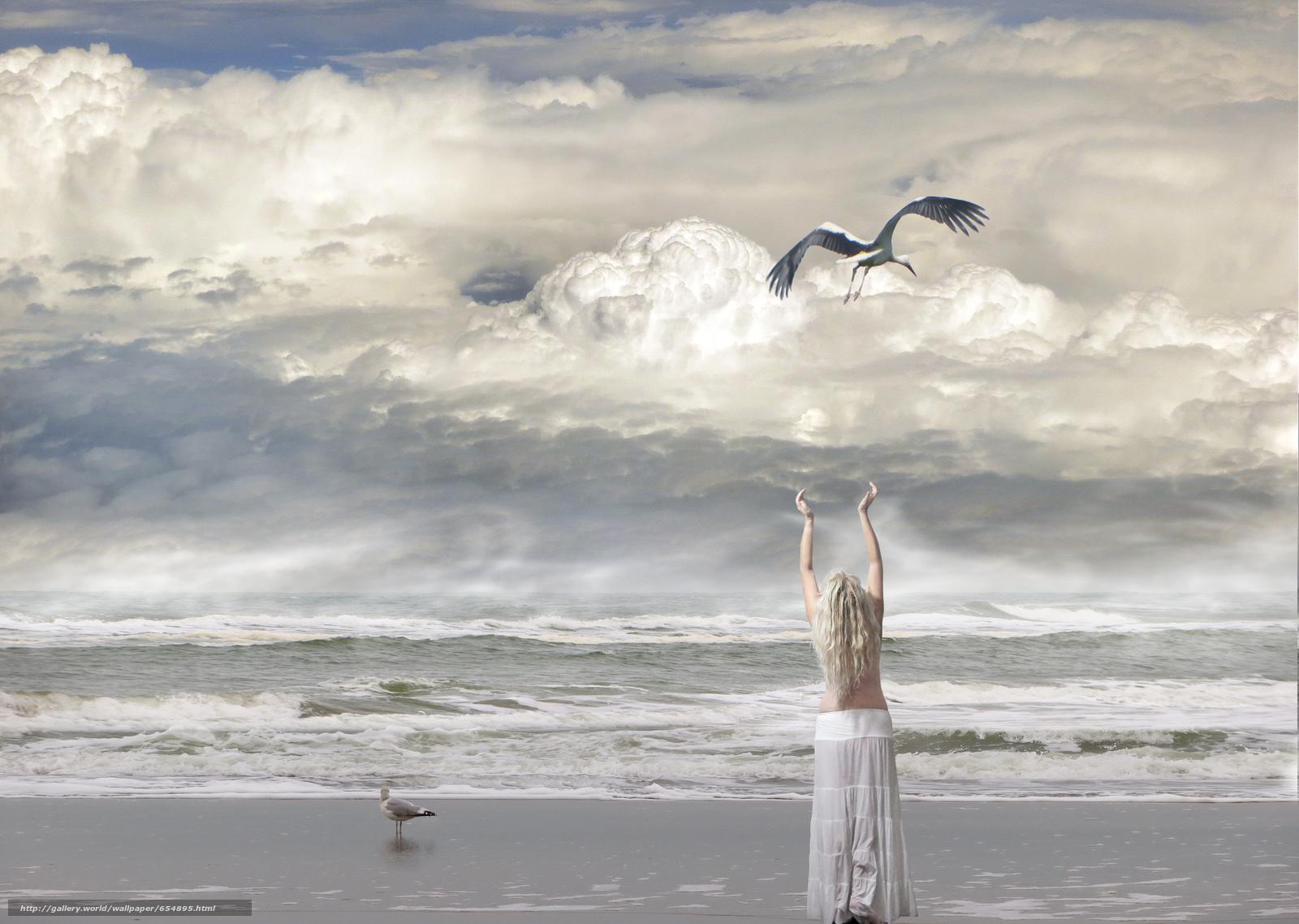 Descargar gratis mar,  ondas,  costa,  chica Fondos de escritorio en la resolucin 2048x1456 — imagen №654895