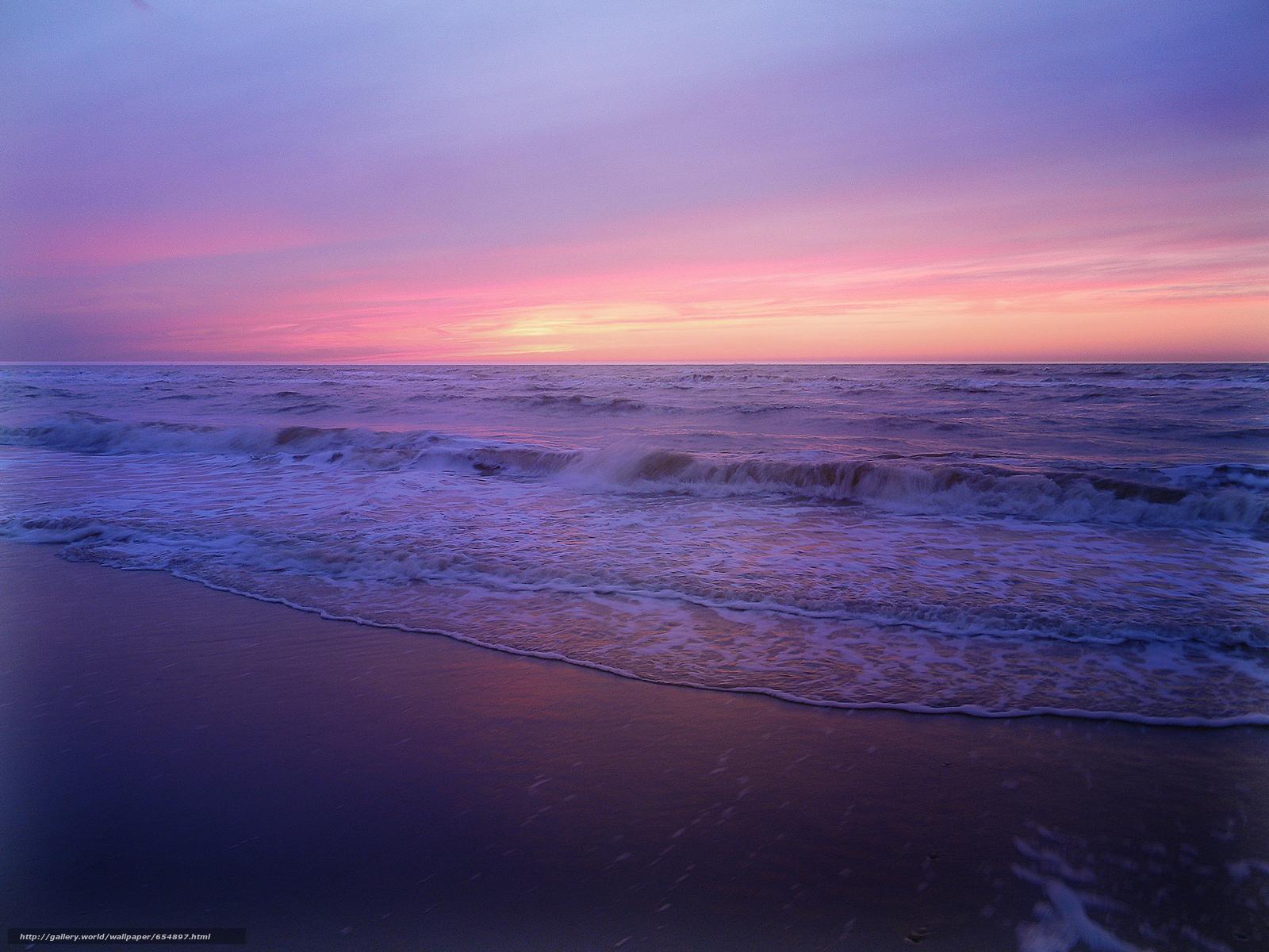 Скачать обои закат,  море,  берег,  волны бесплатно для рабочего стола в разрешении 2048x1536 — картинка №654897
