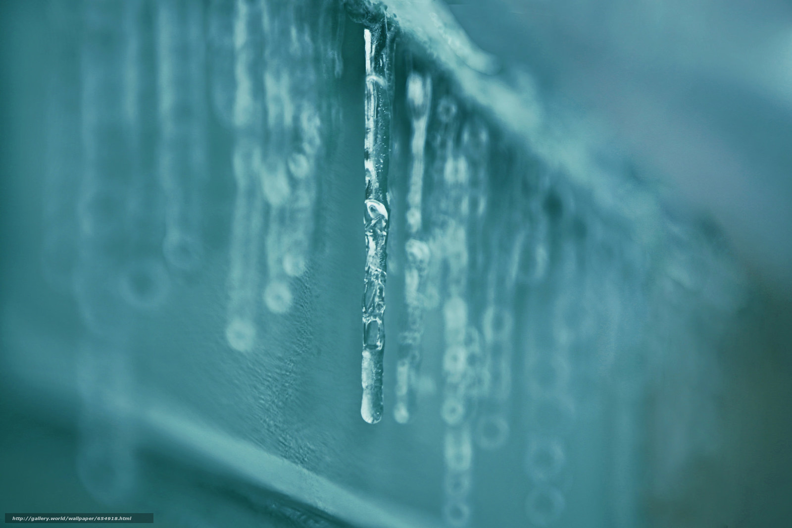 Download wallpaper Icicles,  SPRING,  roof,  Macro free desktop wallpaper in the resolution 2048x1365 — picture №654918
