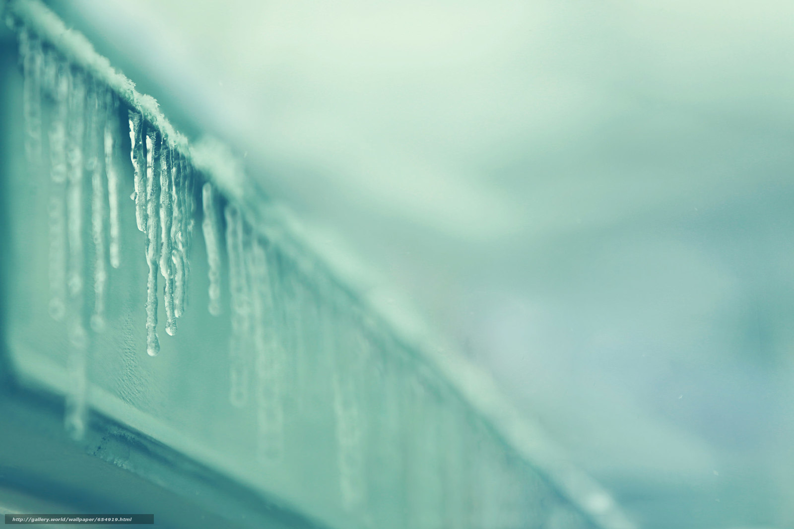 Download wallpaper Icicles,  SPRING,  roof,  Macro free desktop wallpaper in the resolution 2048x1365 — picture №654919