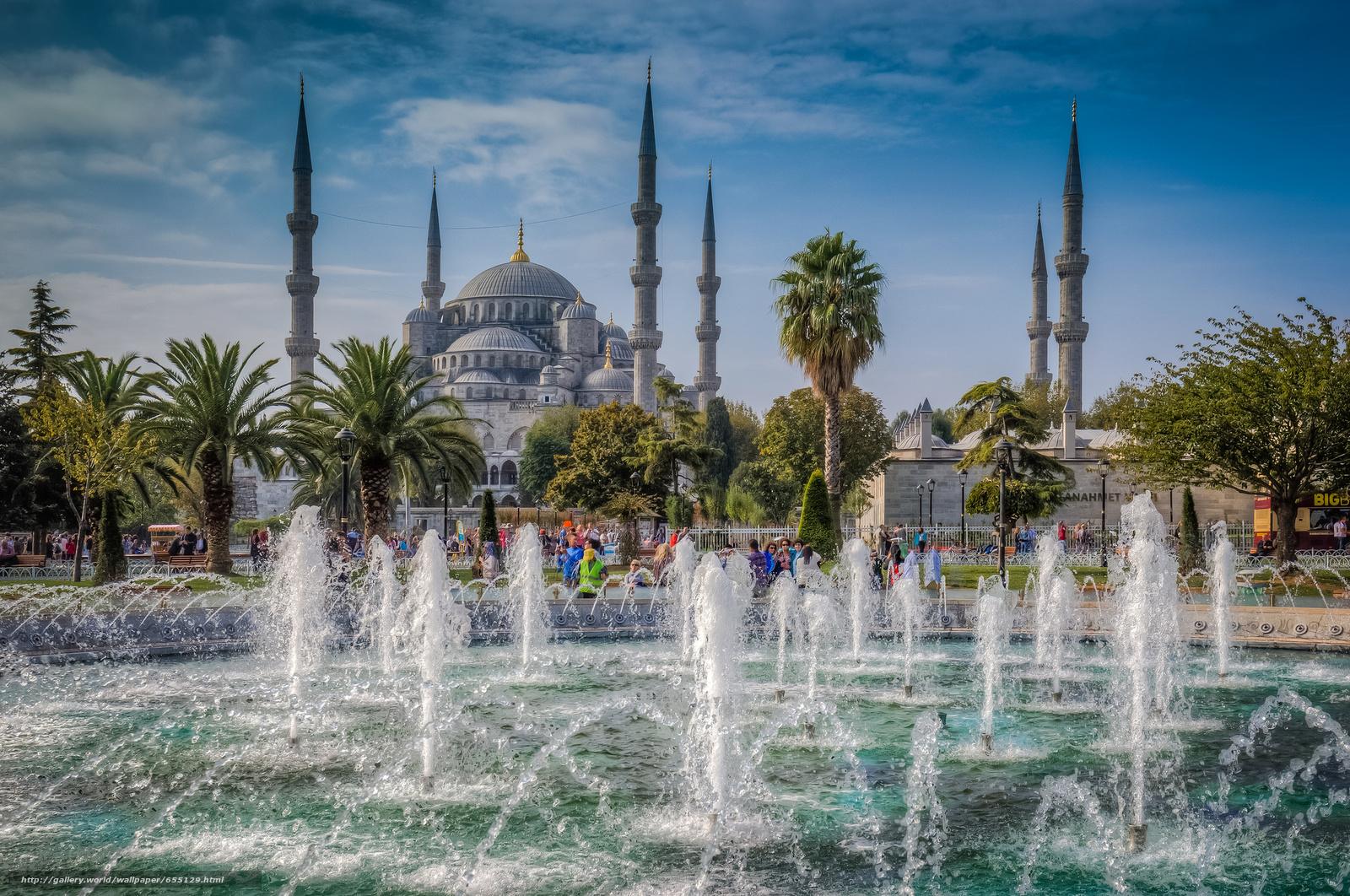 Baixar Wallpaper A Mesquita Azul,  Istambul,  Hagia Sophia Papis de parede grtis na resoluo 2048x1359 — quadro №655129