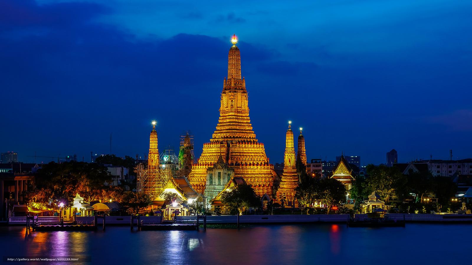 scaricare gli sfondi Bangkok,  capitale e più grande città della Thailandia,  Thailandia Sfondi gratis per la risoluzione del desktop 2048x1151 — immagine №655135