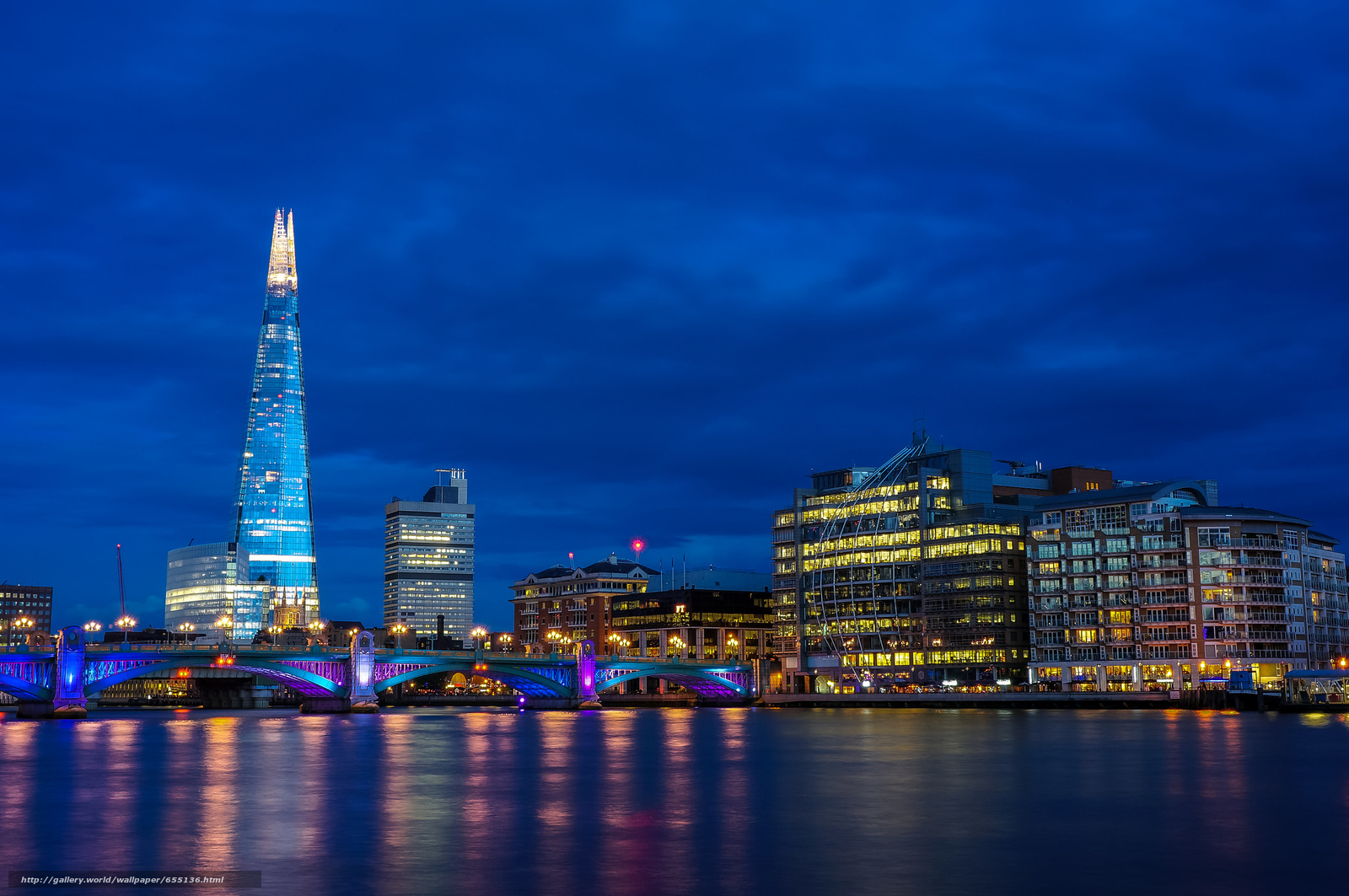 Download wallpaper blue hour,  london,  city free desktop wallpaper in the resolution 2048x1361 — picture №655136