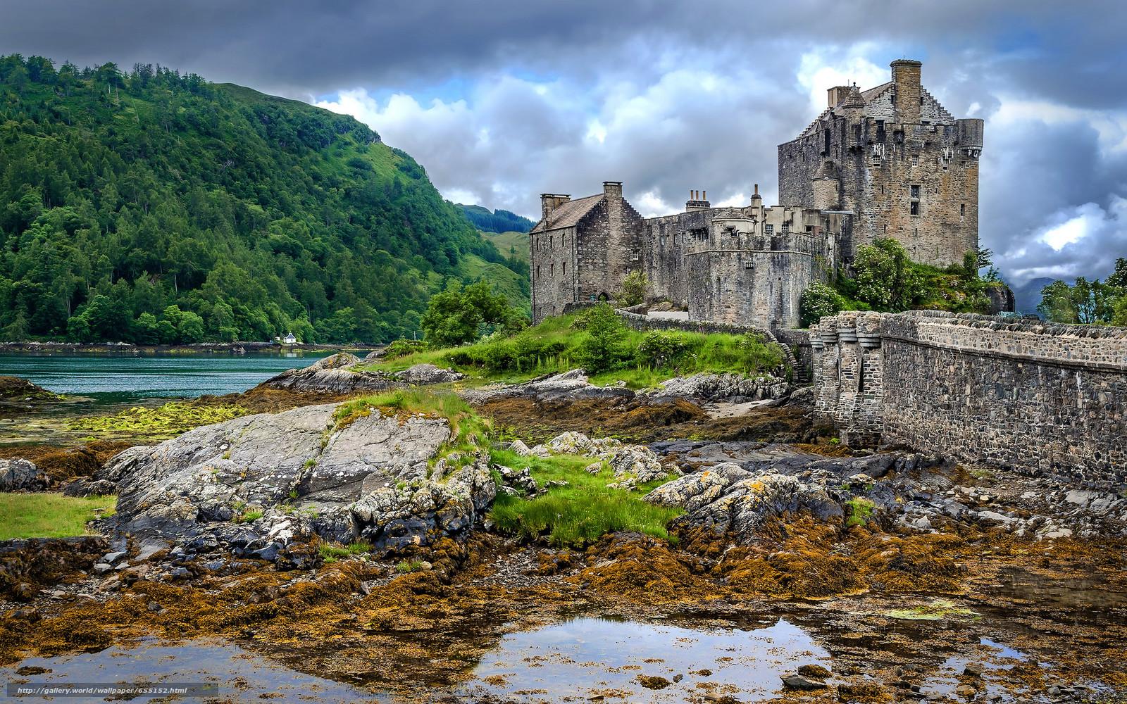 Baixar Wallpaper Eilean Donan,  Escócia,  castelo,  paisagem Papis de parede grtis na resoluo 2048x1280 — quadro №655152