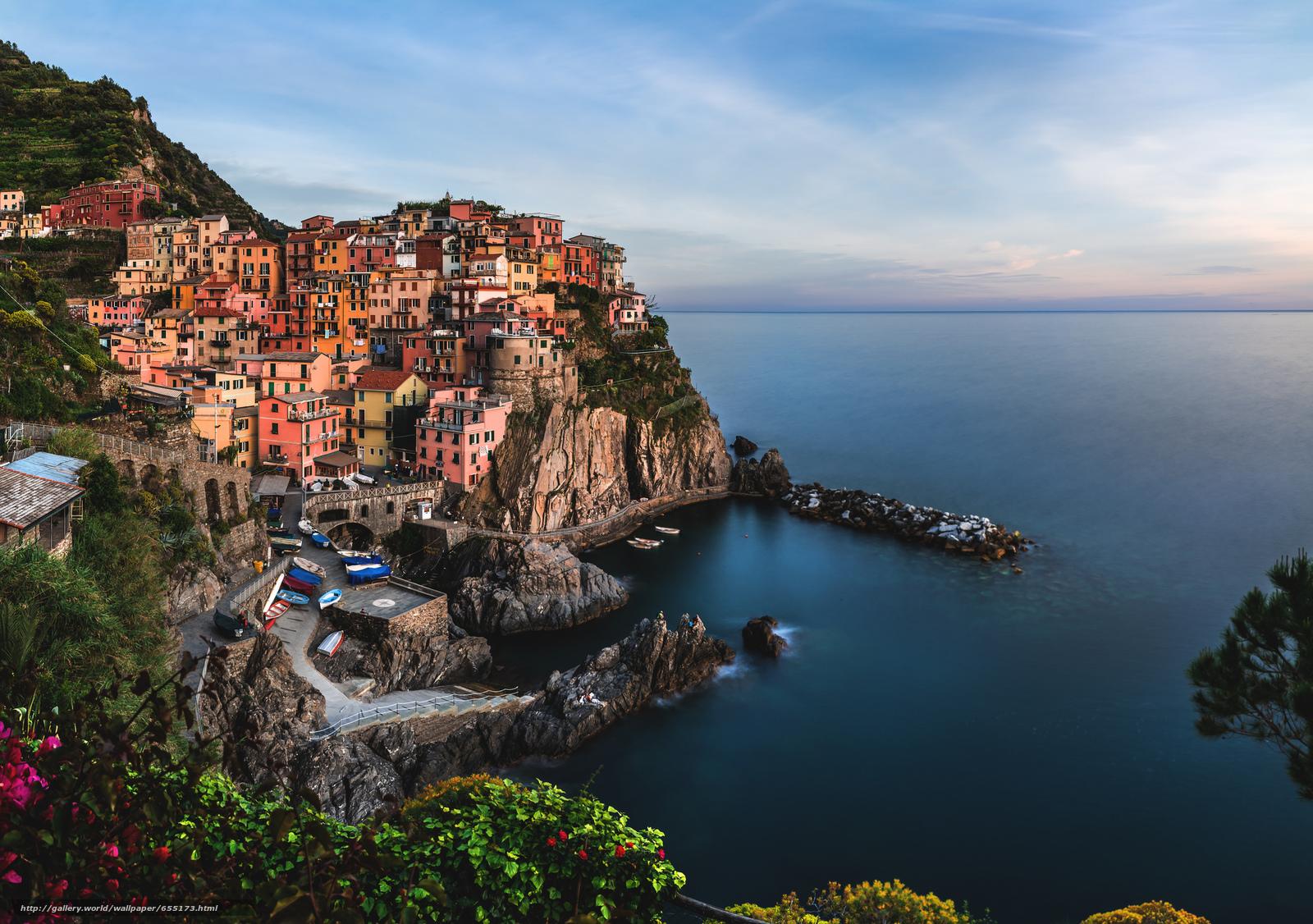 Descargar gratis Italia,  Cinque Terre,  Manarola Fondos de escritorio en la resolucin 2048x1441 — imagen №655173