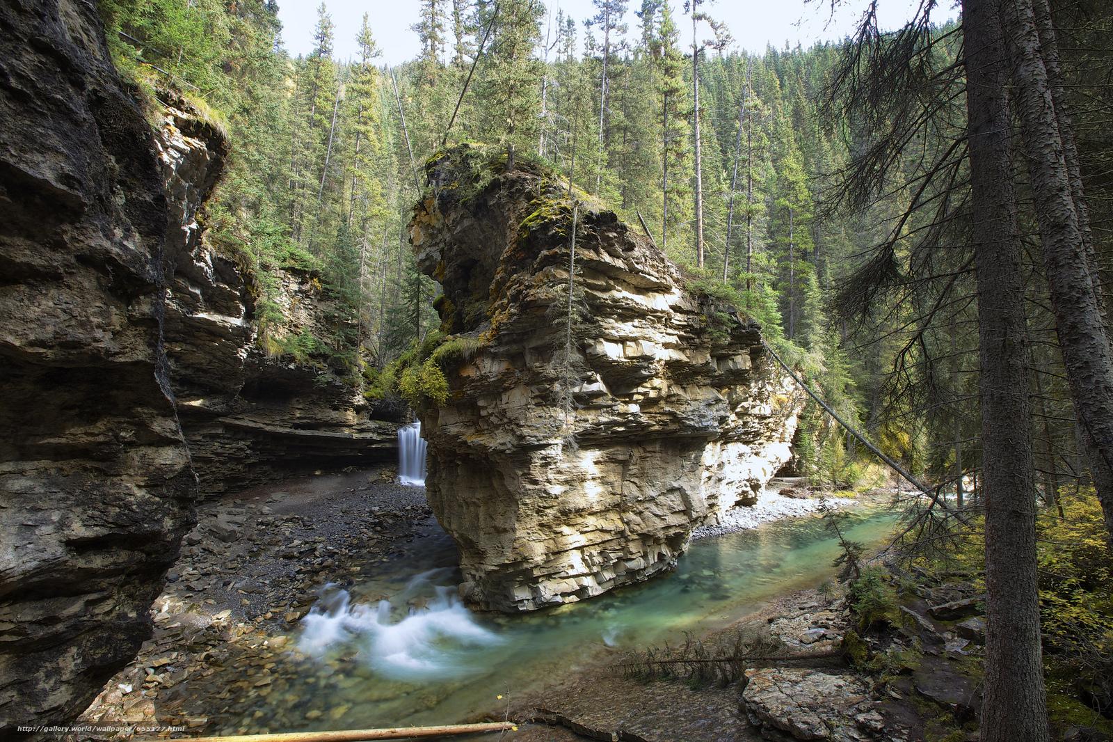 Download Hintergrund Alberta,  Kanada,  Johnson Canyon,  Wasserfall Freie desktop Tapeten in der Auflosung 2048x1365 — bild №655177