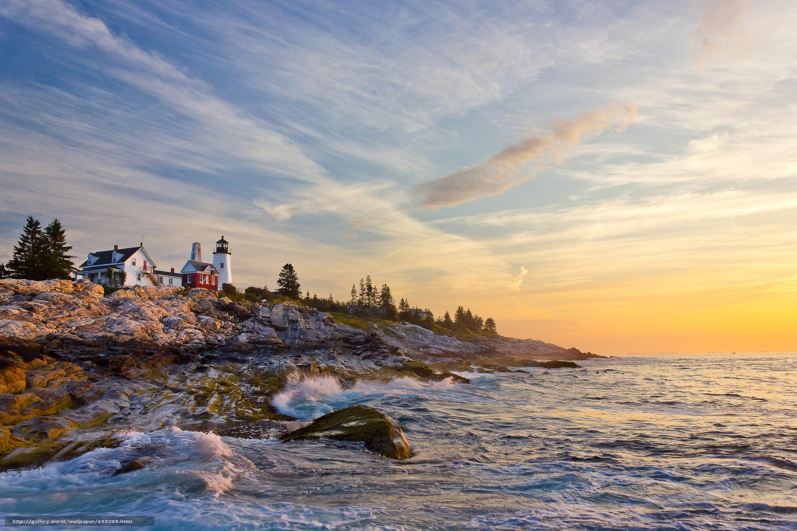 Descargar gratis Portland Head Light,  Cape Elizabeth,  Maine,  faro Fondos de escritorio en la resolucin 2048x1365 — imagen №655205