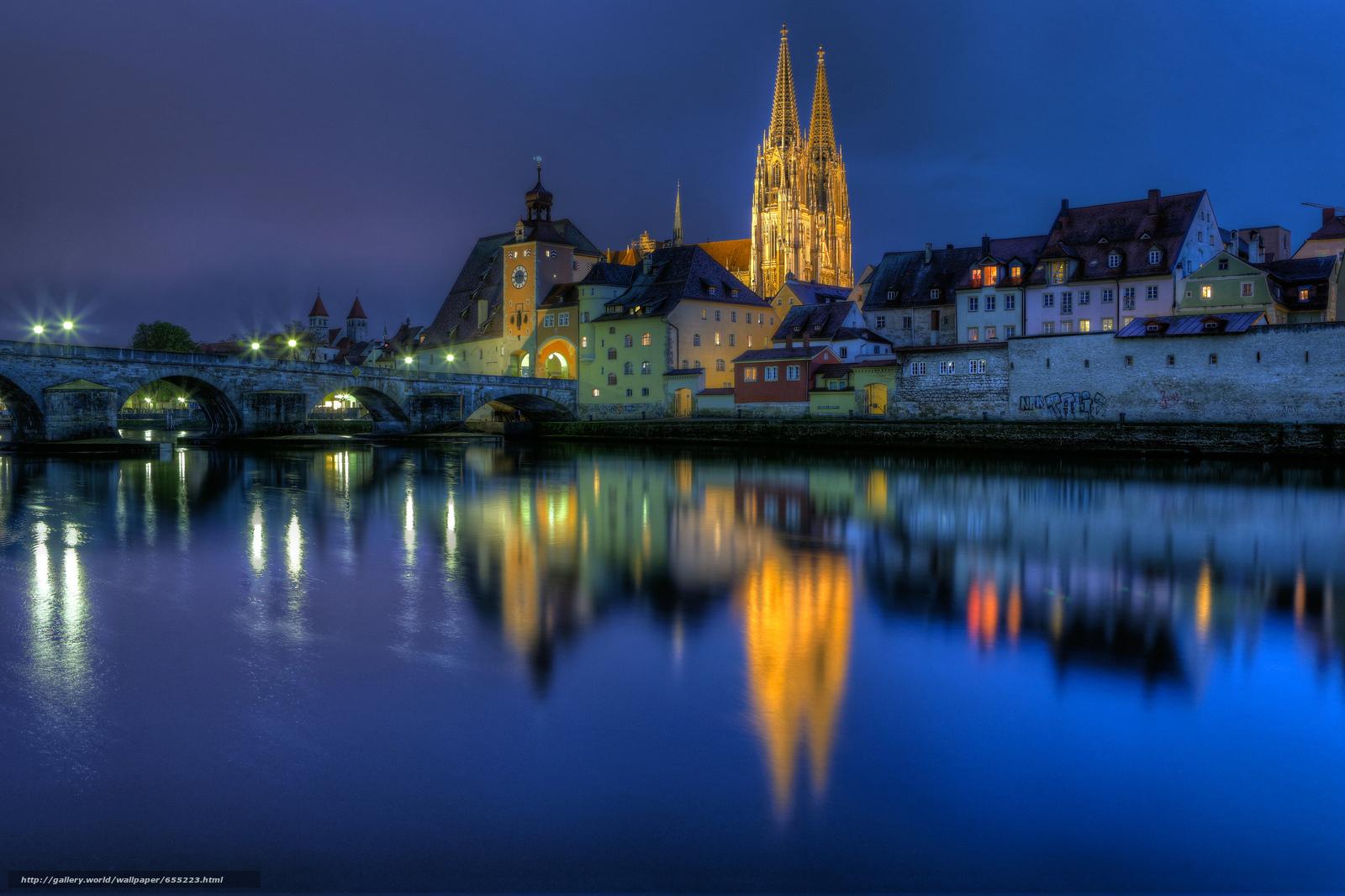 Download wallpaper Regensburg,  Regensburg,  Germany,  Bayern free desktop wallpaper in the resolution 2048x1365 — picture №655223