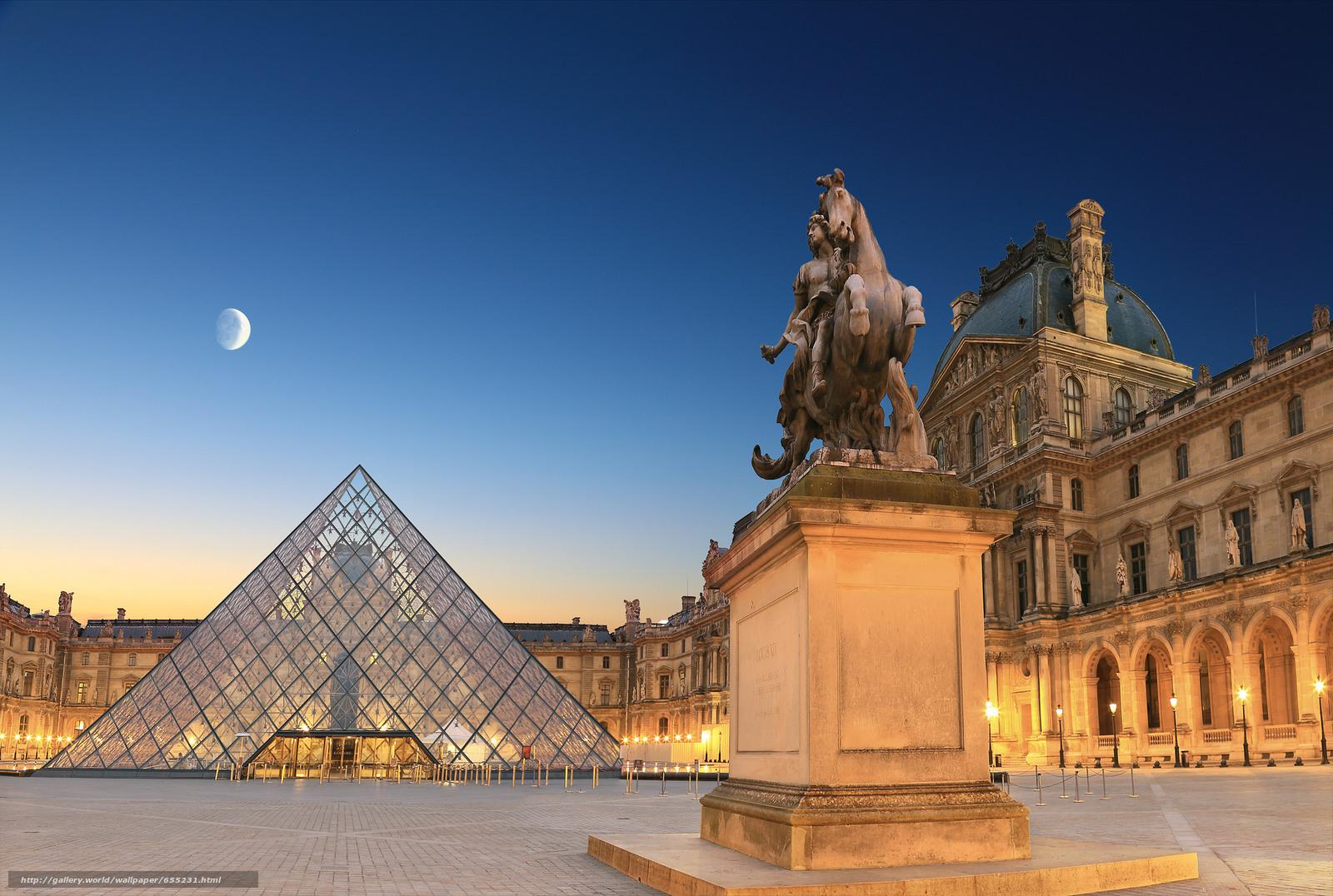 Скачать обои Louvre,  Paris,  France,  Лувр бесплатно для рабочего стола в разрешении 2048x1377 — картинка №655231
