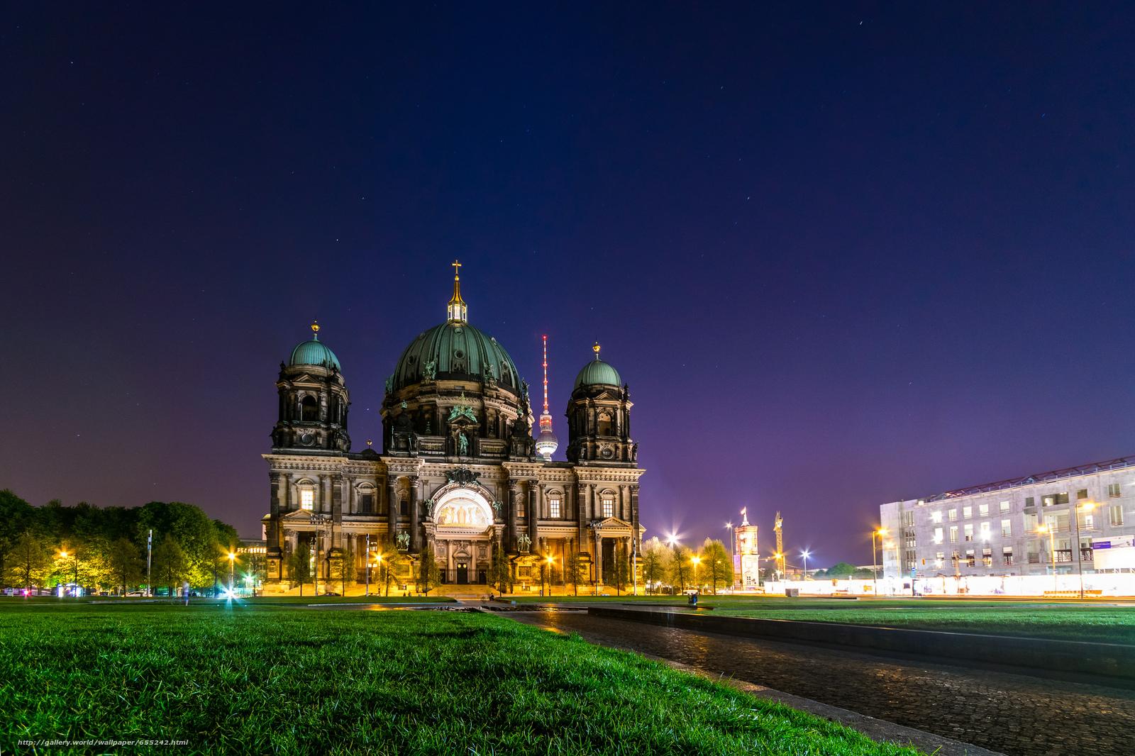 scaricare gli sfondi Berlino,  Germania,  Germania,  Cattedrale di Berlino Sfondi gratis per la risoluzione del desktop 2048x1365 — immagine №655242