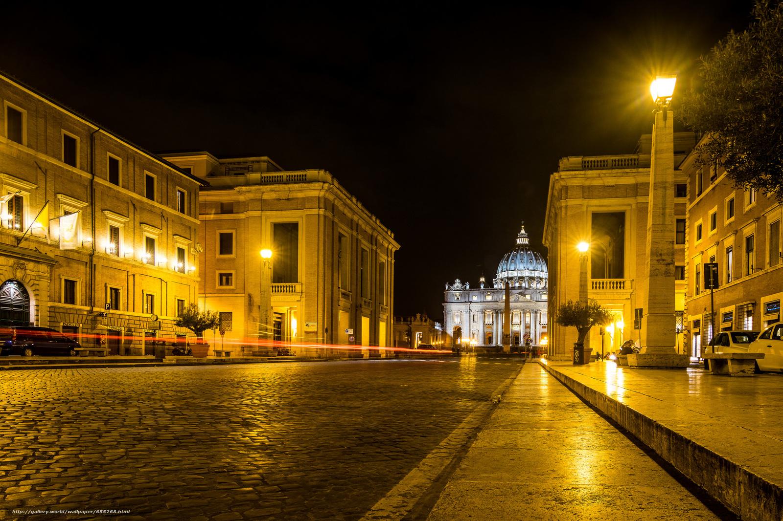 Scaricare Gli Sfondi Roma Roma Città Del Vaticano Notte Sfondi