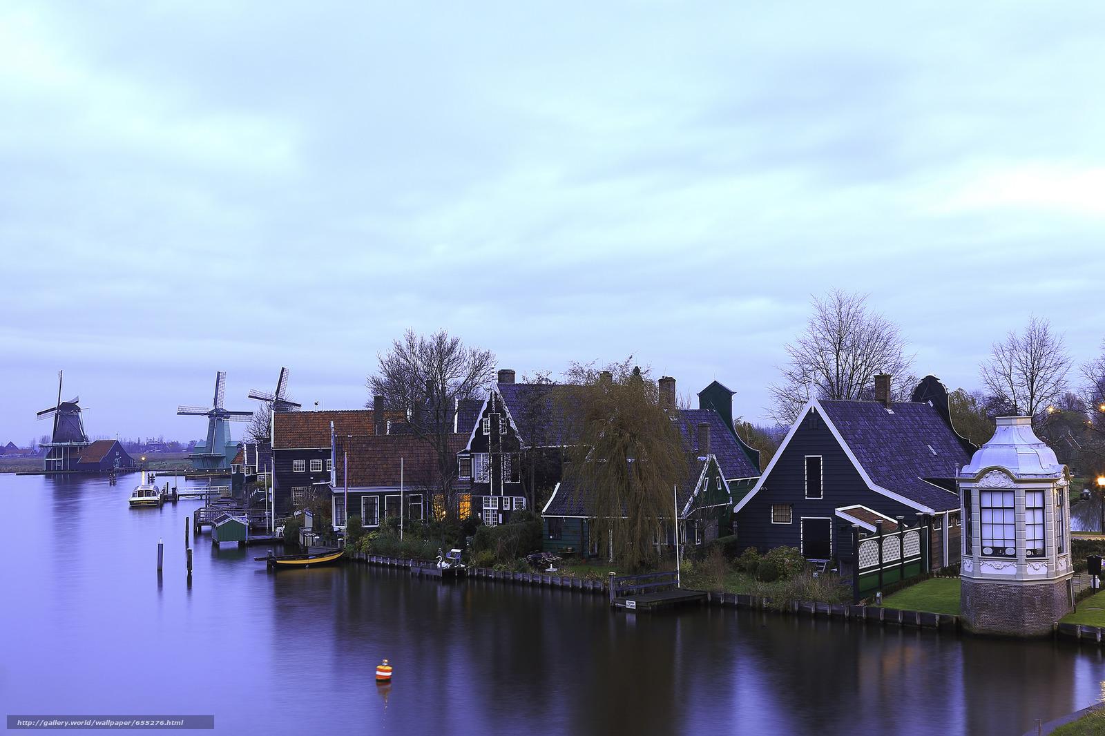 Скачать обои Zaanschans,  Нидерланды,  Amsterdam,  Netherlands бесплатно для рабочего стола в разрешении 2048x1365 — картинка №655276