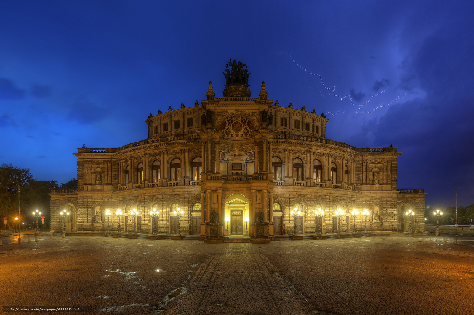 scaricare gli sfondi Semper,  Teatro dell'Opera,  Dresda Sfondi gratis per la risoluzione del desktop 2048x1365 — immagine №655287