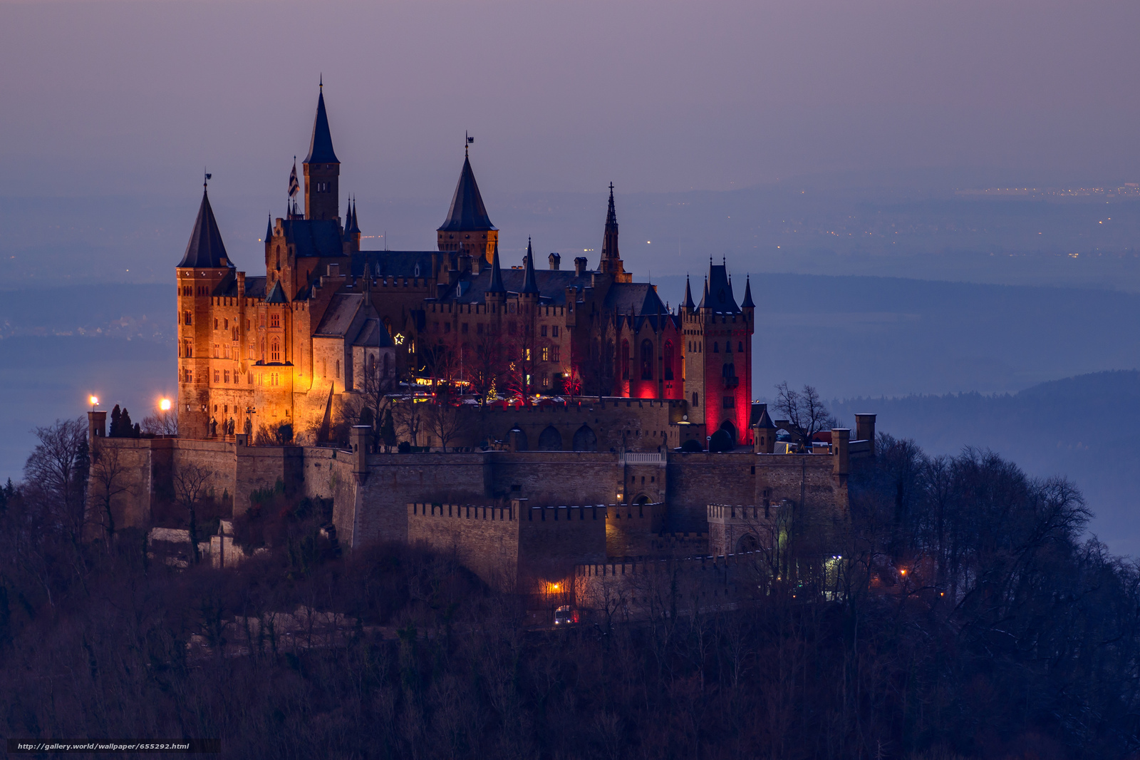 scaricare gli sfondi Castello di Hohenzollern,  Baden-Wuerttemberg,  Germania Sfondi gratis per la risoluzione del desktop 2048x1365 — immagine №655292