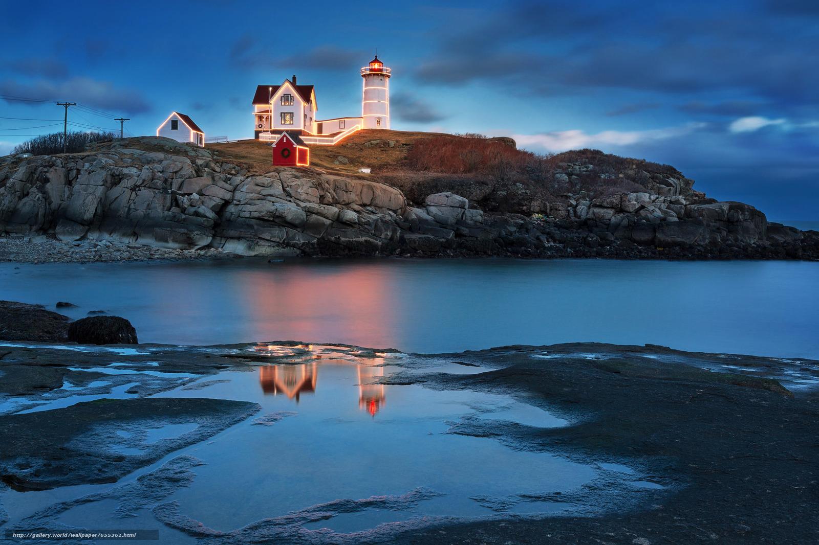 scaricare gli sfondi Portland Head Light,  Cape Elizabeth,  Maine,  faro Sfondi gratis per la risoluzione del desktop 2048x1365 — immagine №655361