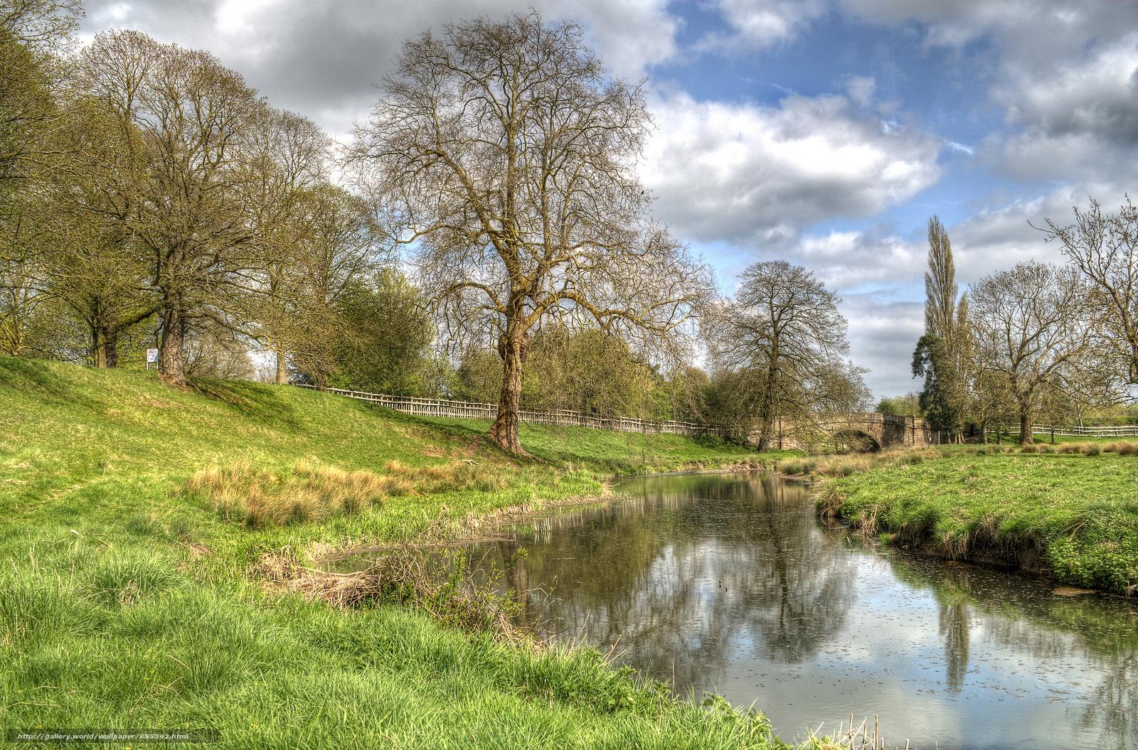 scaricare gli sfondi fiume,  ponte,  alberi,  paesaggio Sfondi gratis per la risoluzione del desktop 2048x1351 — immagine №655392