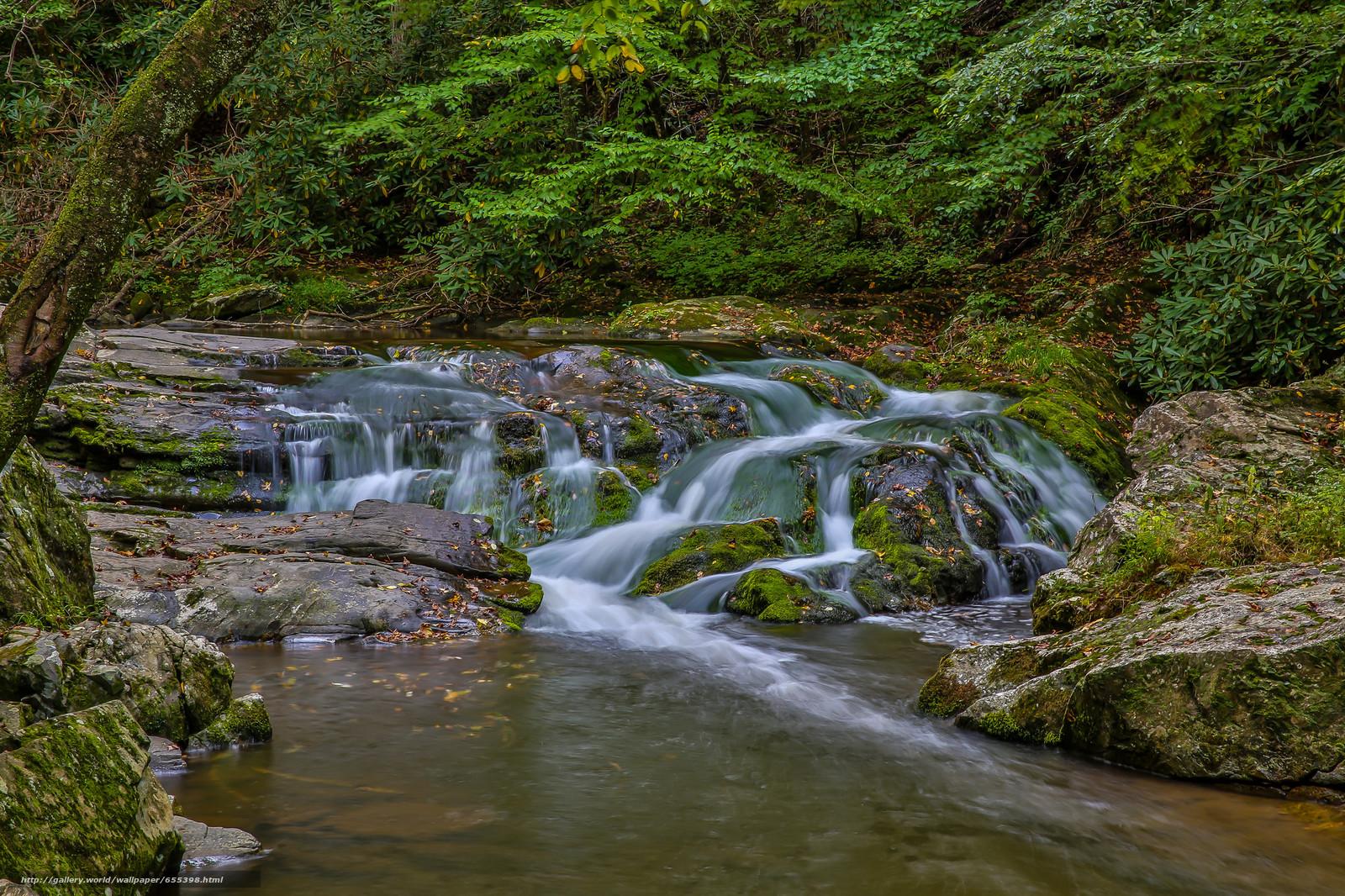 Tlcharger Fond d'ecran Cascade,  Grands Smokey Mountains,  rivière,  cascade Fonds d'ecran gratuits pour votre rsolution du bureau 2048x1365 — image №655398