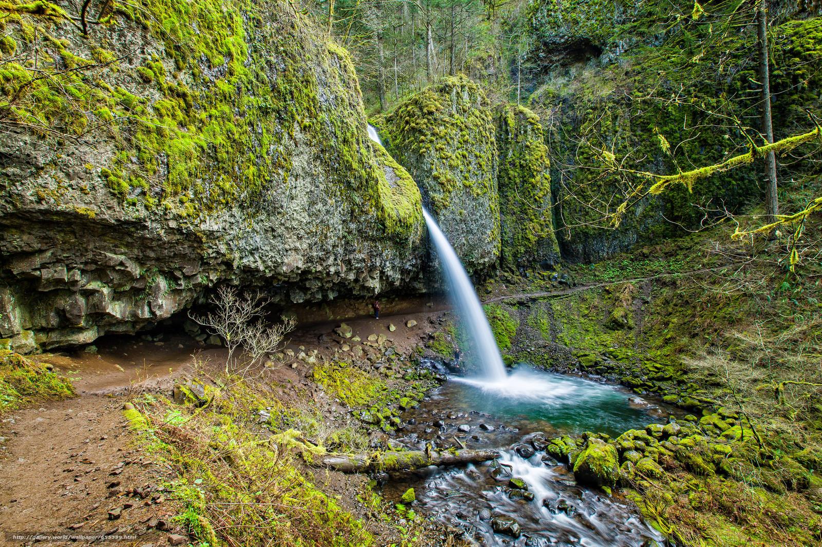 Скачать обои скалы,  водопад,  природа бесплатно для рабочего стола в разрешении 2048x1365 — картинка №655399