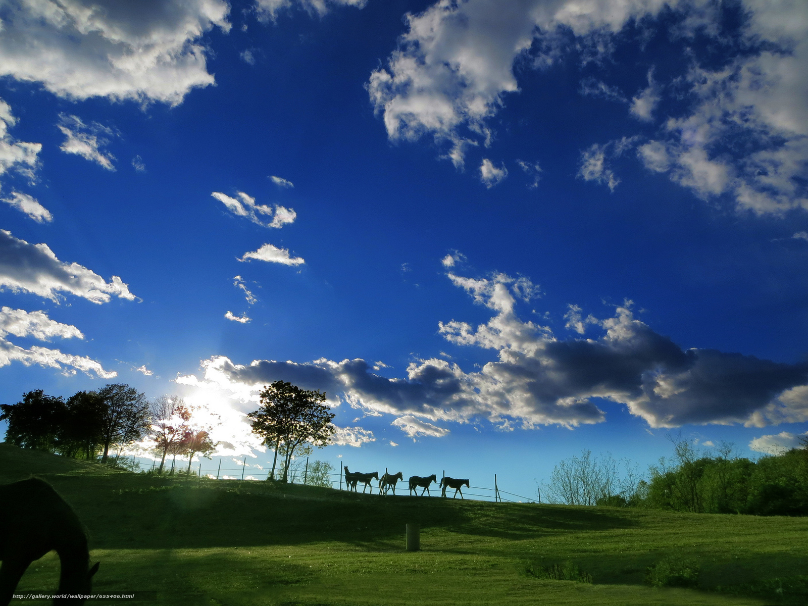 Descargar gratis puesta del sol,  campo,  Hills,  nubes Fondos de escritorio en la resolucin 2048x1536 — imagen №655406