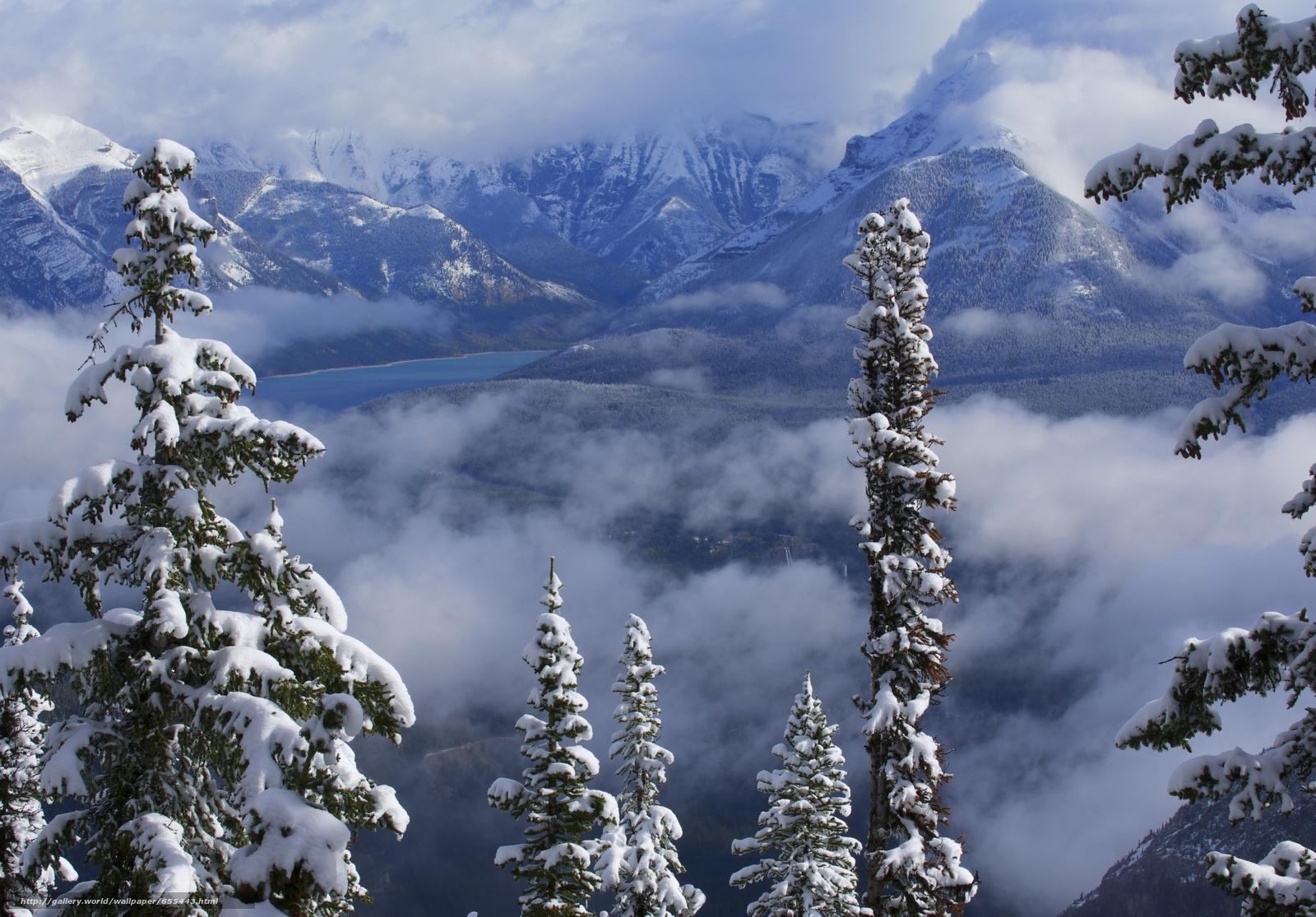 Скачать обои Lake Minnewanka,  Canadian Rockies,  Banff National Park,  Alberta бесплатно для рабочего стола в разрешении 5633x3927 — картинка №655443