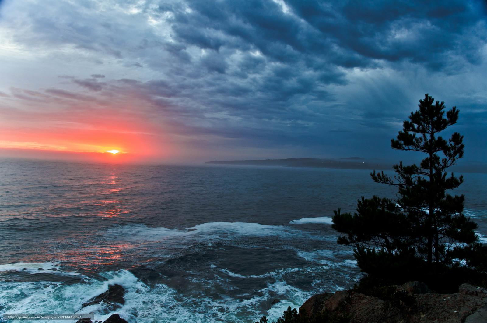 Download wallpaper sunset,  sea,  waves,  landscape free desktop wallpaper in the resolution 4928x3264 — picture №655898